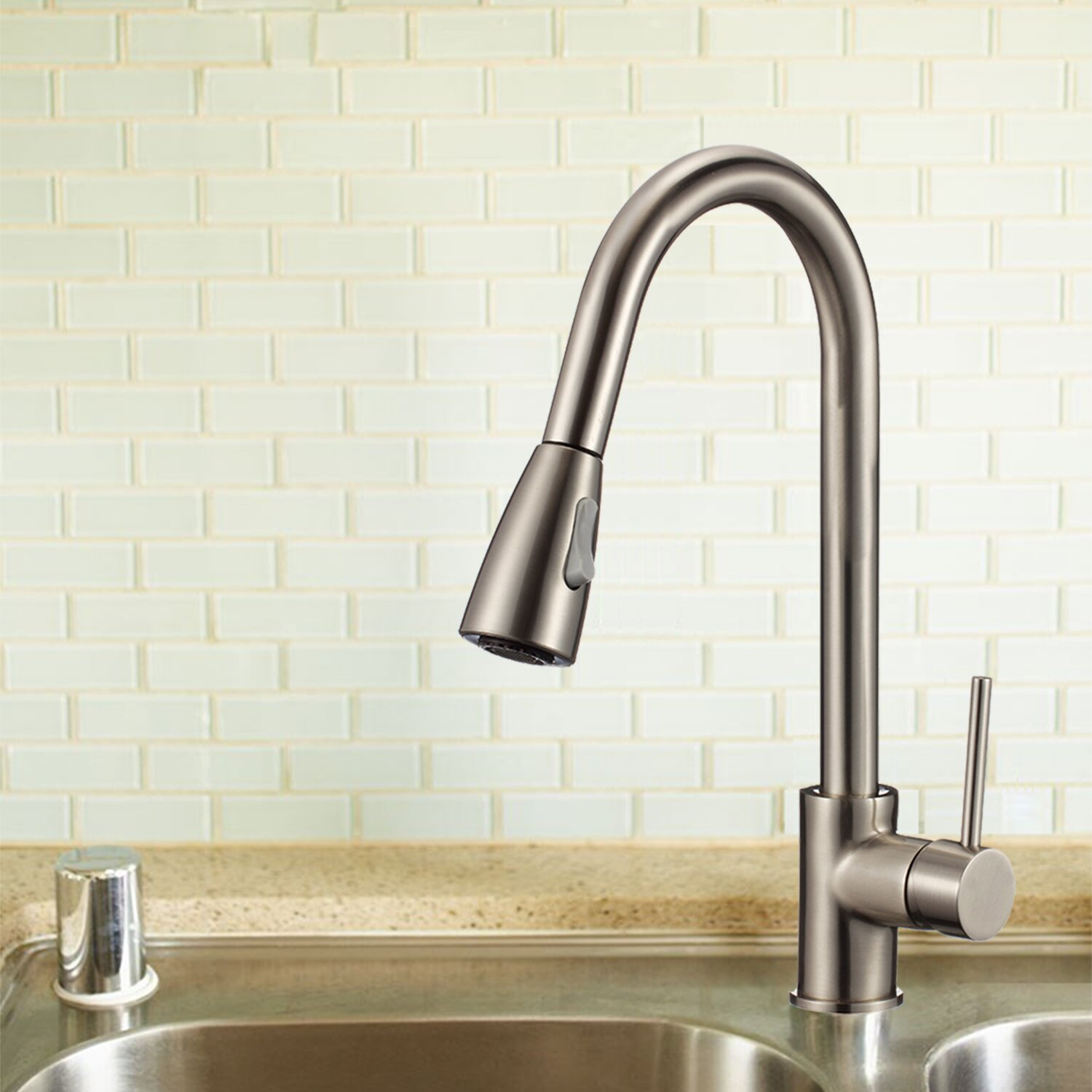 upscale designs by ema single handle deck mounted kitchen upscale designs by ema single handle kitchen faucet with