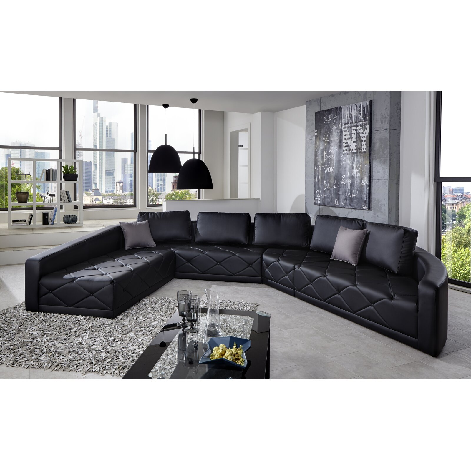 sam stil art m bel gmbh wohnlandschaft nero. Black Bedroom Furniture Sets. Home Design Ideas