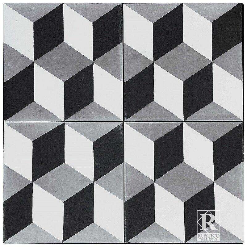 Rustico tile stone mealu 8 x 8 harlequin cement for Carrelage smart tiles leroy merlin