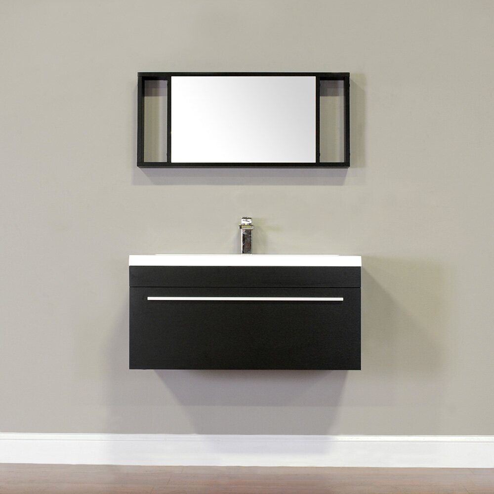 Alya bath ripley 36 single wall mount modern bathroom - Modern vanity mirrors for bathroom ...