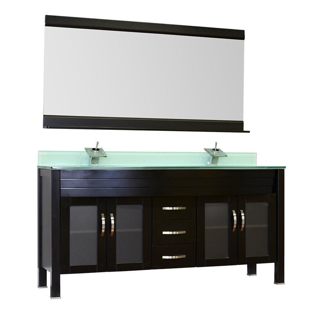 """Top 10 Modern Vanity Lights For The Modern Bathroom: Alya Bath Elite 72"""" Double Bathroom Vanity Set"""