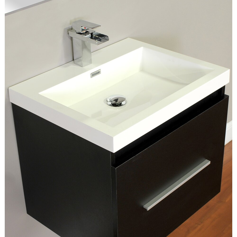Alya bath ripley 24 single wall mount modern bathroom - Contemporary bathroom vanity sets ...