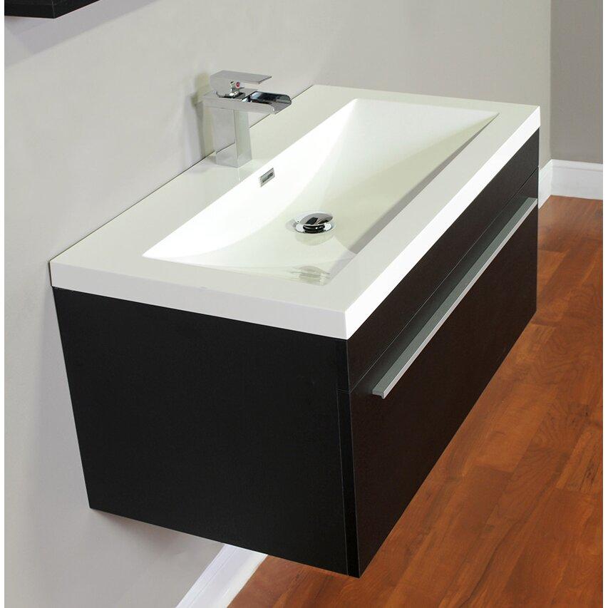 Alya bath ripley 36 single modern bathroom vanity set - Contemporary bathroom vanity sets ...