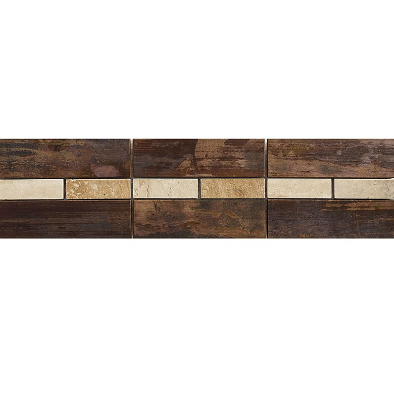 Parvatile morro bay 12 x 3 travertine border accent tile for Travertine accent tile
