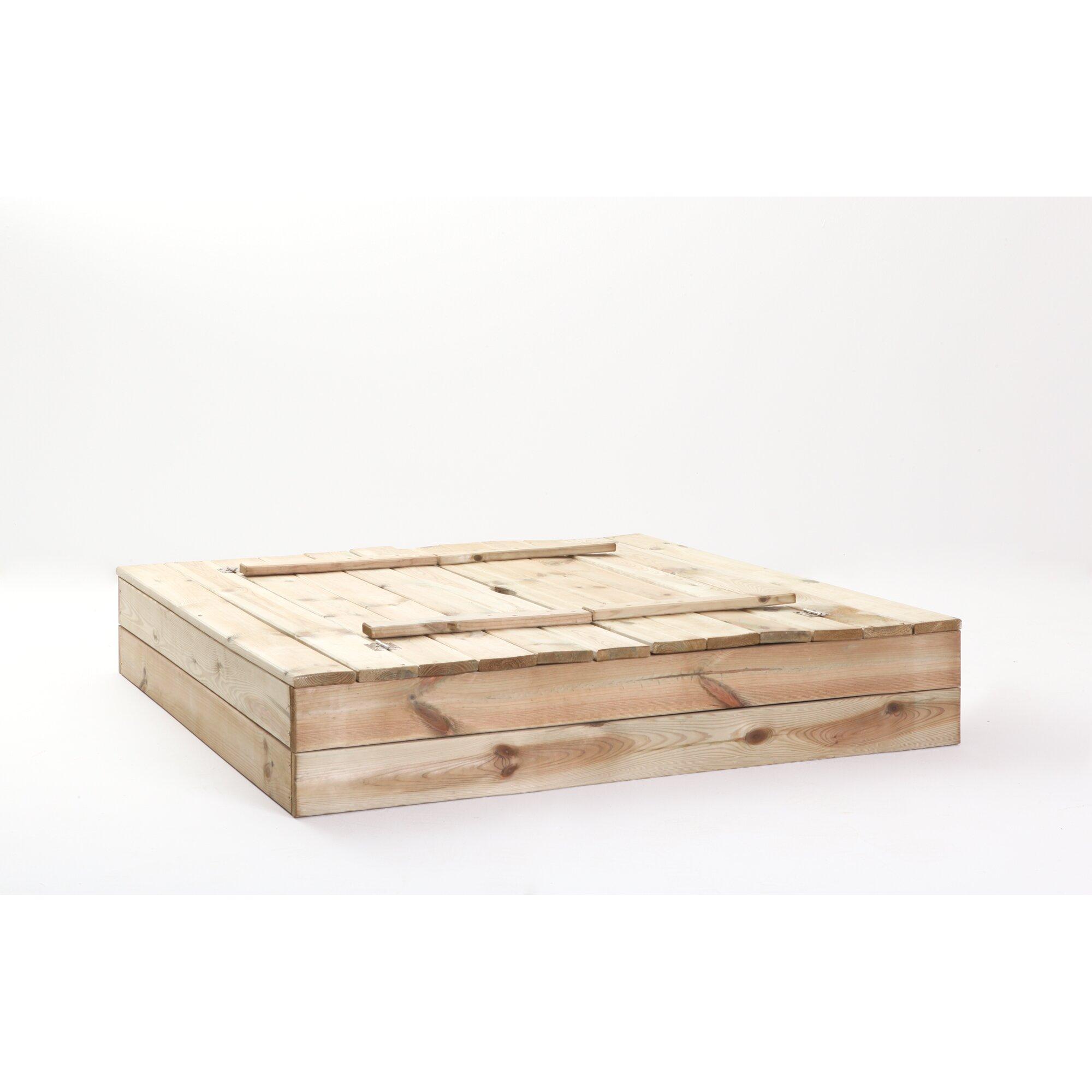 ticaa 110 cm x 110 cm sandkasten mit deckel reviews von manufacturer. Black Bedroom Furniture Sets. Home Design Ideas