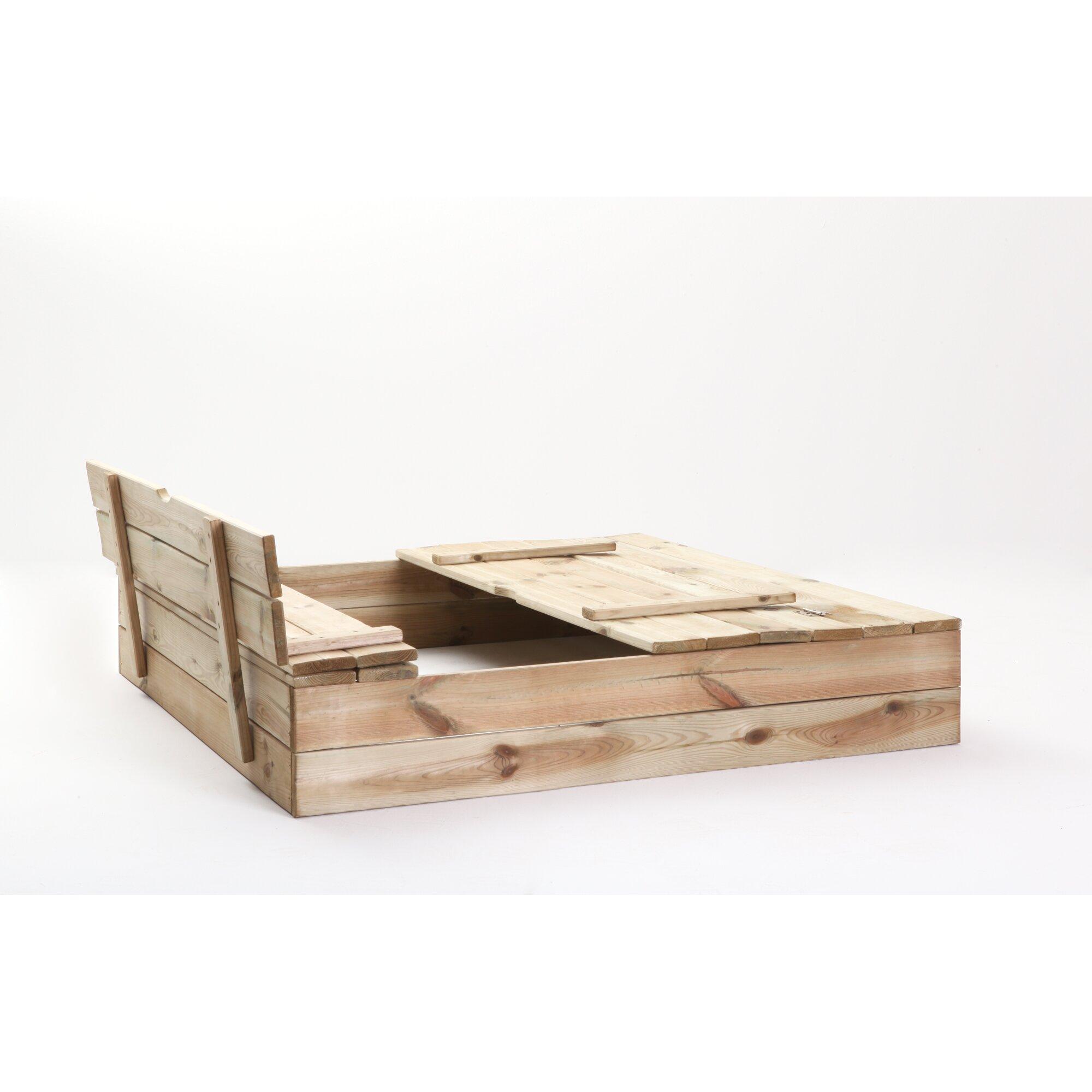 ticaa 110 cm x 110 cm sandkasten mit deckel reviews von. Black Bedroom Furniture Sets. Home Design Ideas