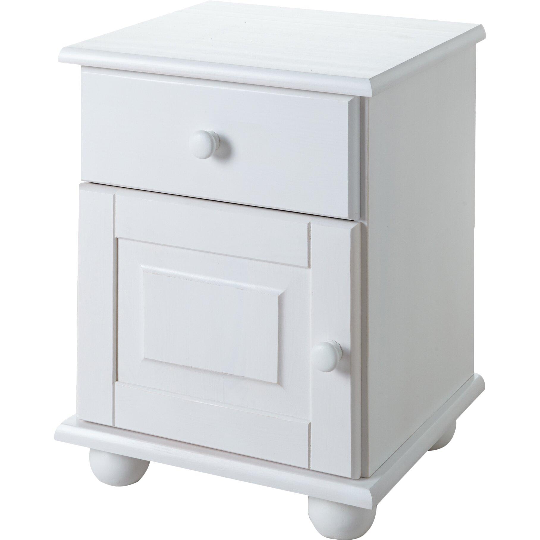 ticaa nachttisch olivier mit schublade von manufacturer. Black Bedroom Furniture Sets. Home Design Ideas