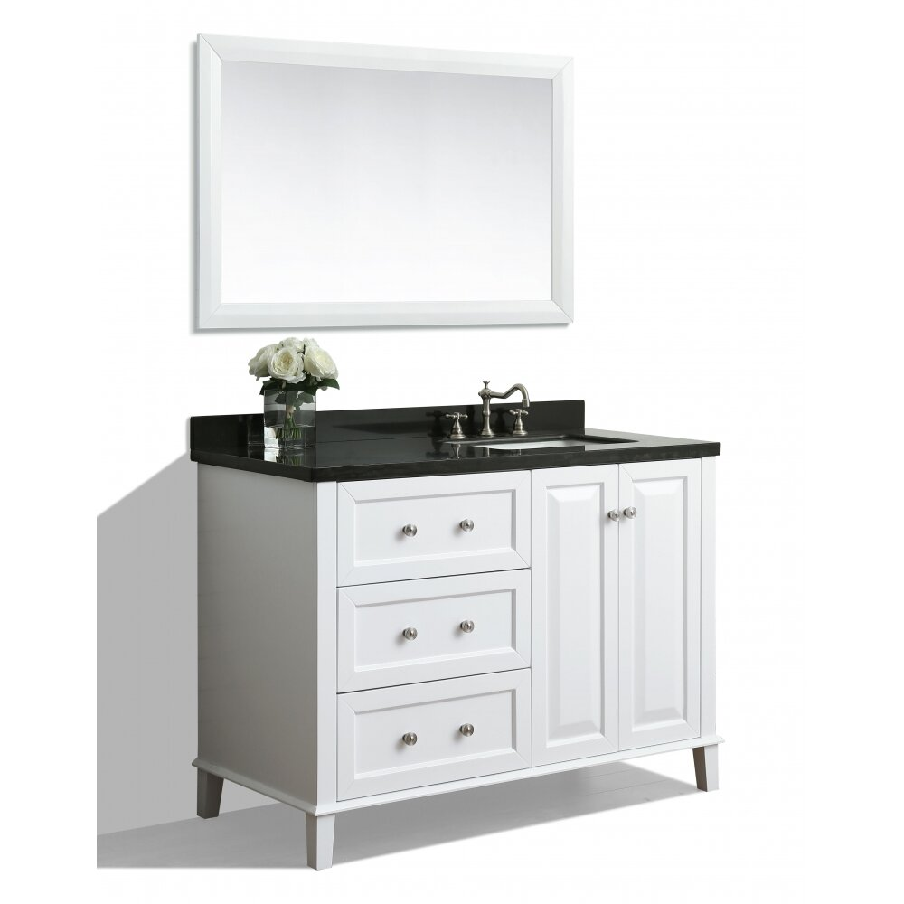 Ancerre designs hannah 48 single bath vanity set with for Bath and vanity set