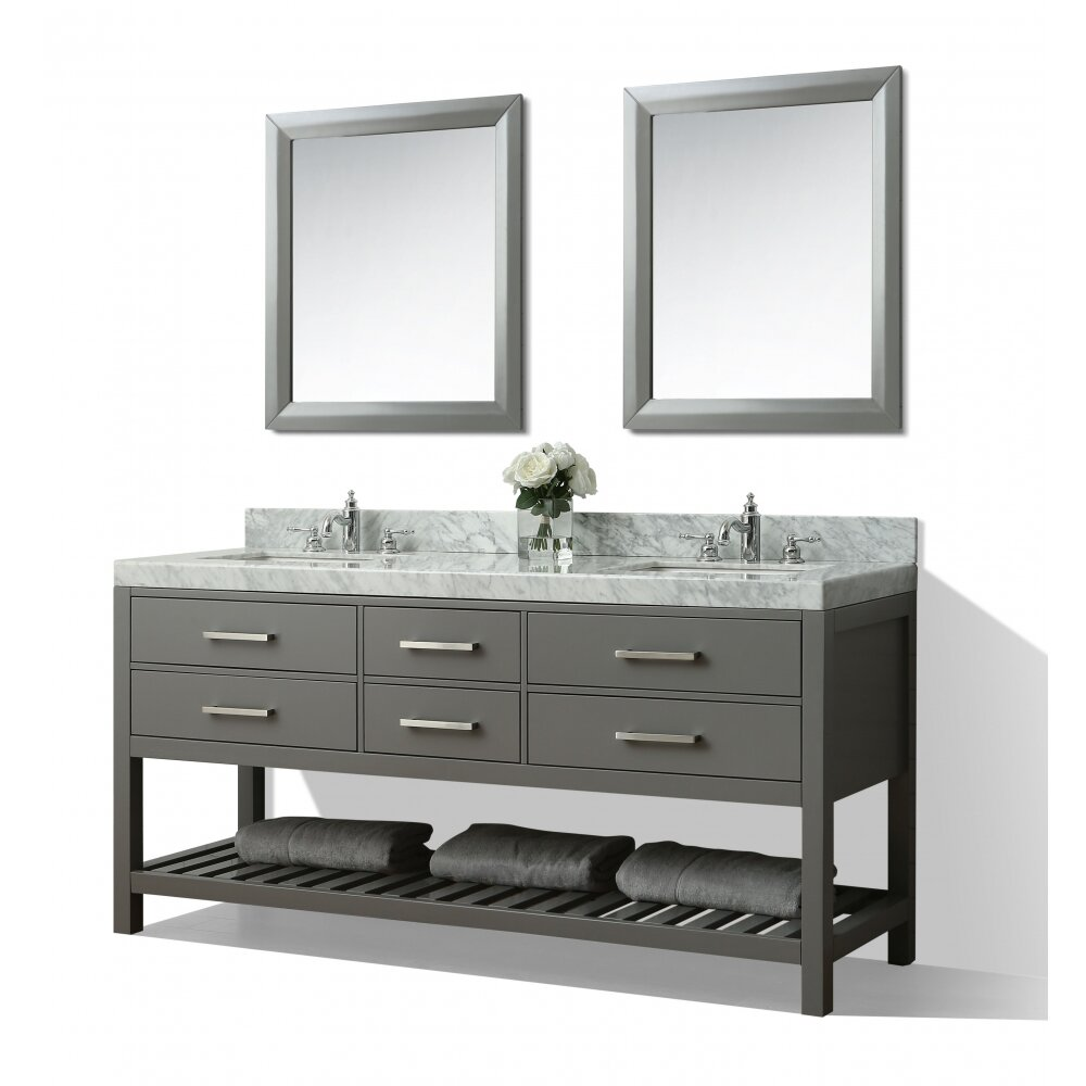 Ancerre Designs Elizabeth 72 Double Bath Vanity Set Wayfair