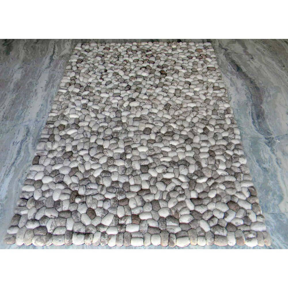 Modern rugs pebbles grey area rug for Modern area rugs for sale