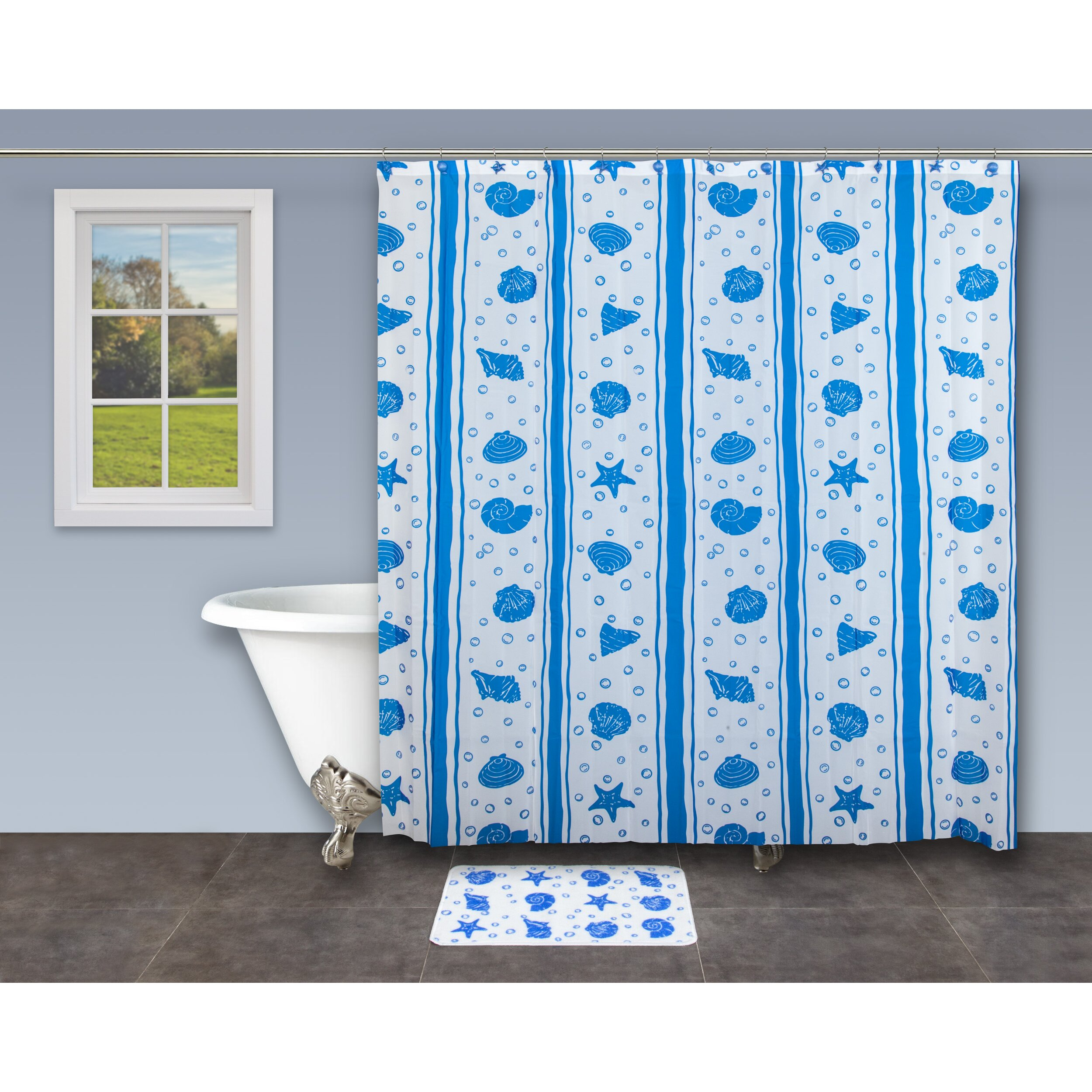 Innova Imports 18 Piece Bathroom Shower Curtain Set