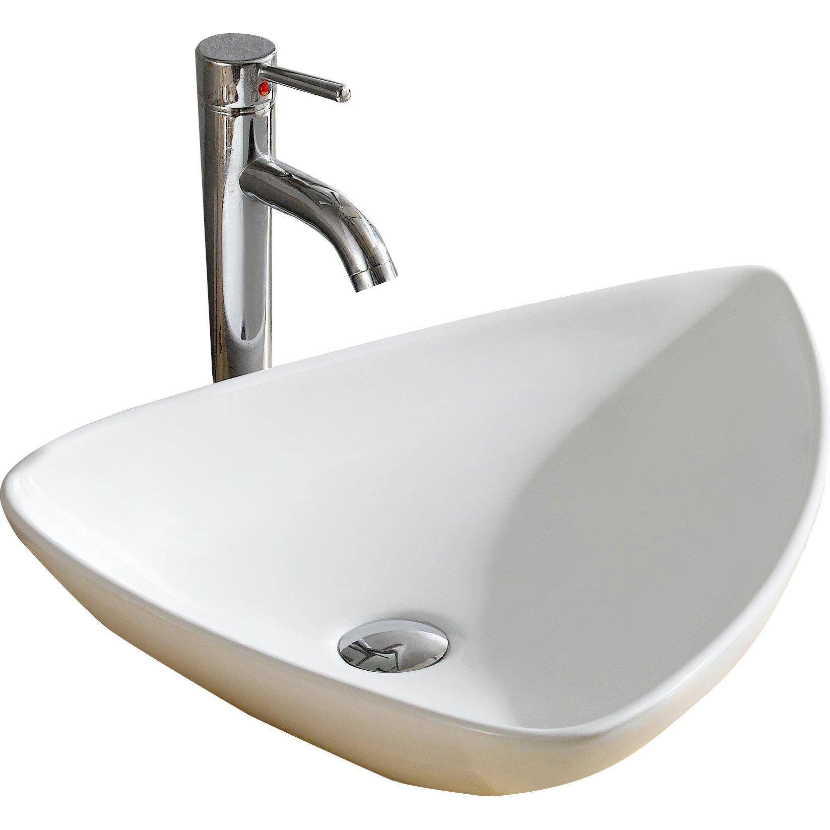 Fine Fixtures Modern Vitreous Triangular Vessel Sink