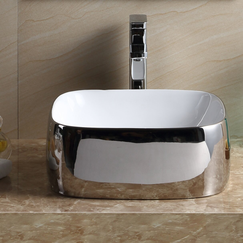 Fine Fixtures Modern Square Bathroom Sink Wayfair