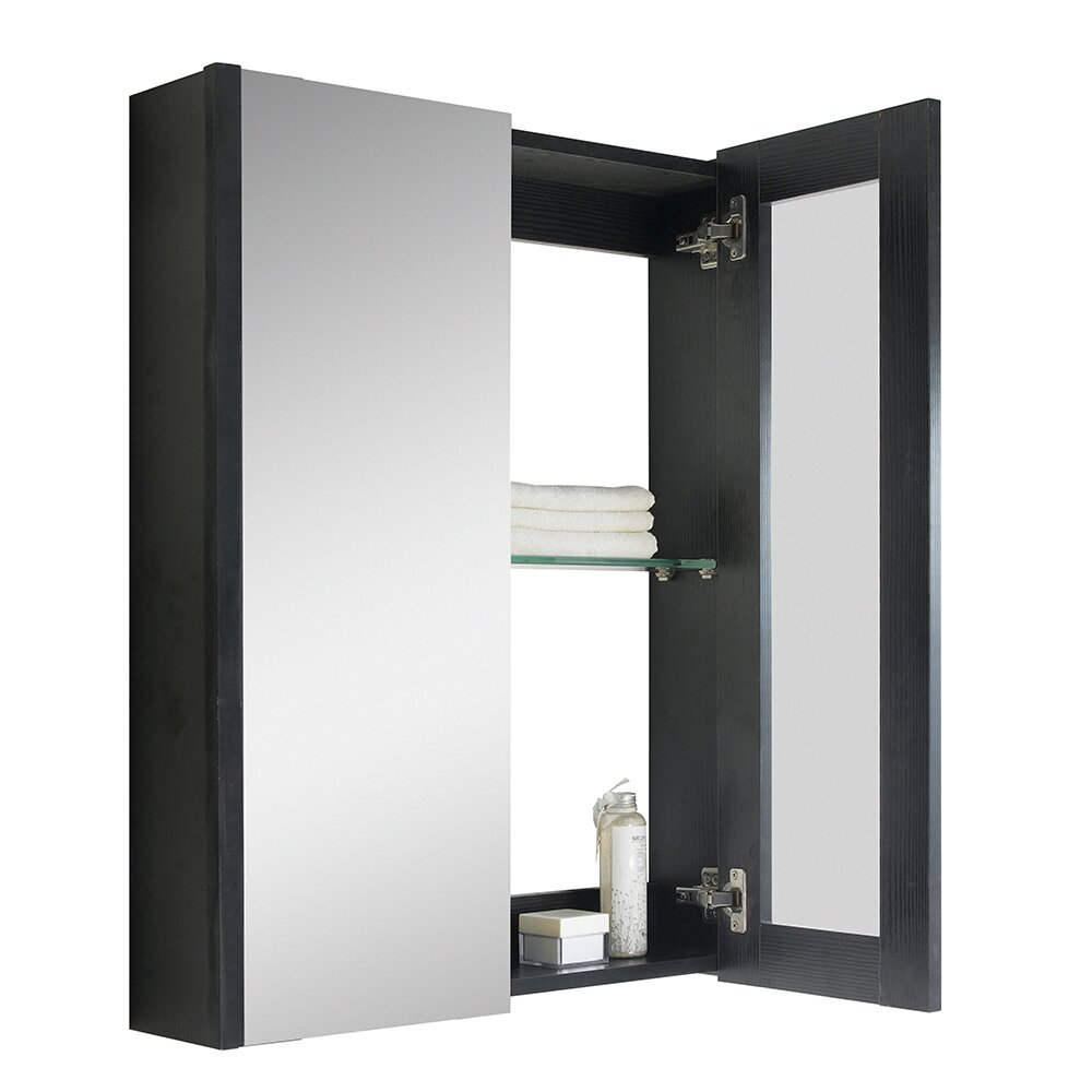 Fine fixtures vdara 24 x 31 5 wall mounted flat medicine Wall mounted medicine cabinet