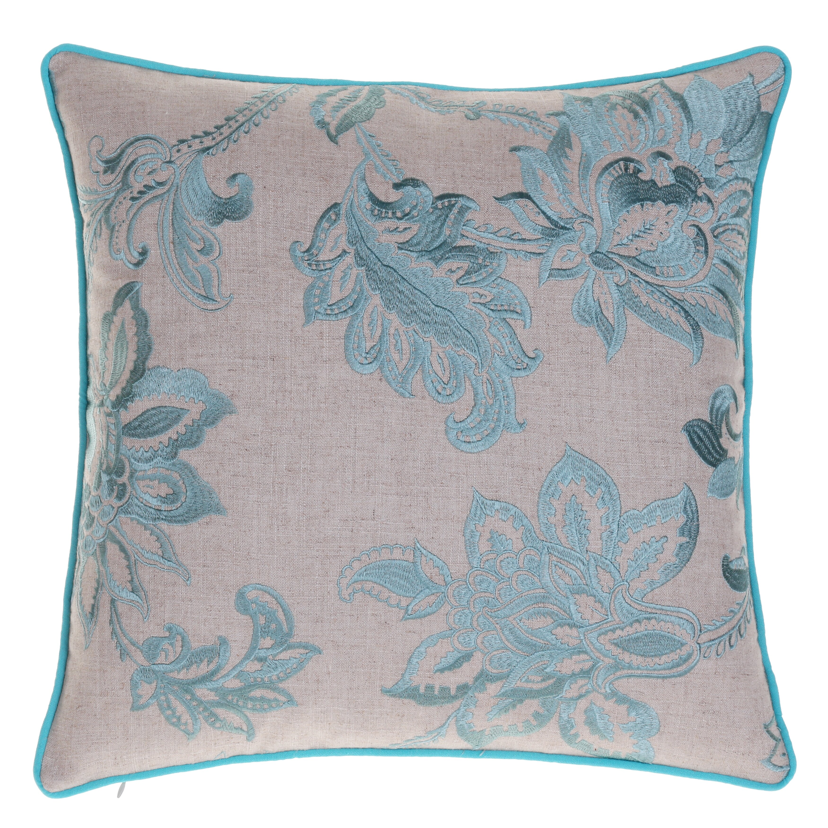 14 Karat Home Inc. Embroidered French Country Throw Pillow & Reviews Wayfair