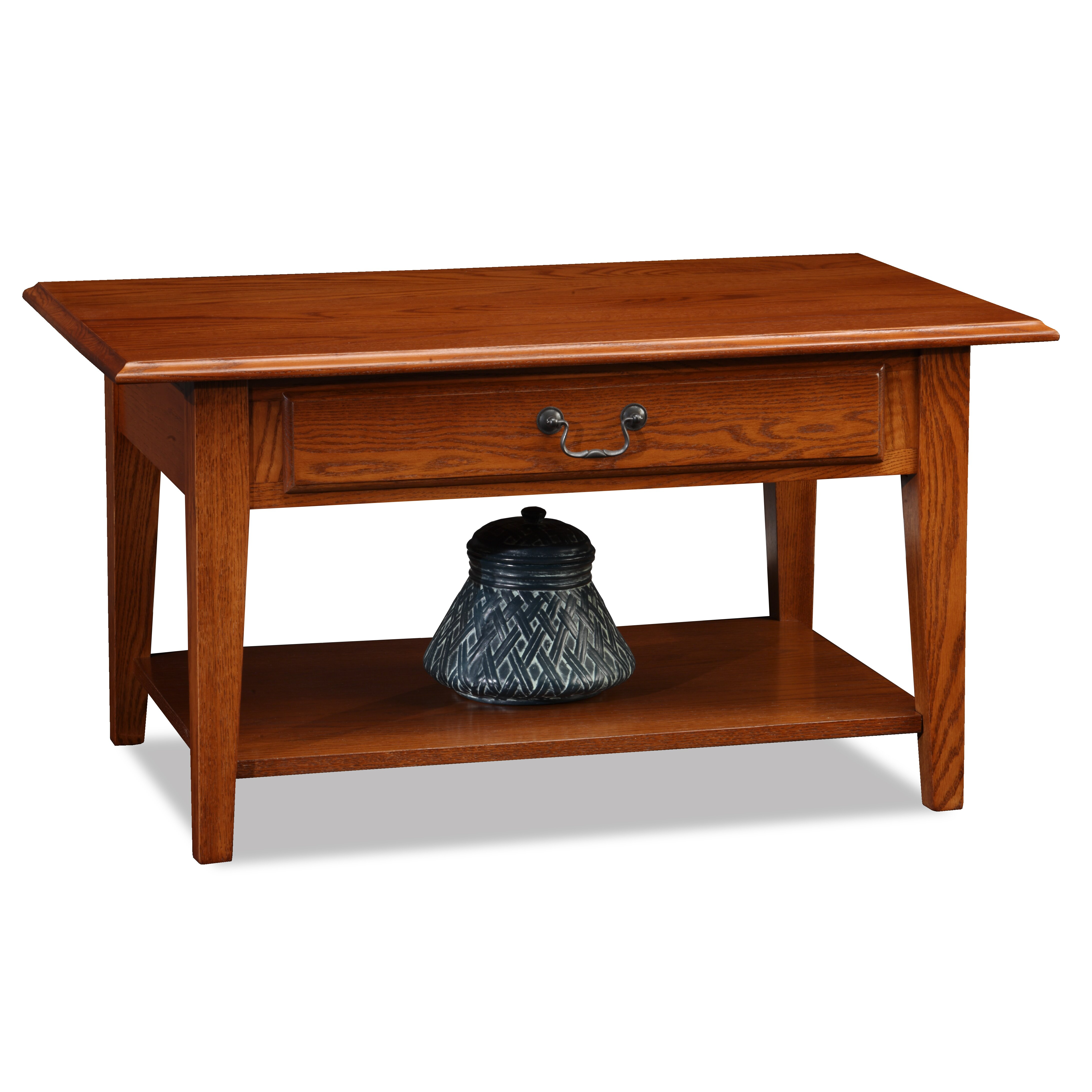 Leick shaker coffee table reviews wayfair for Furniture courier