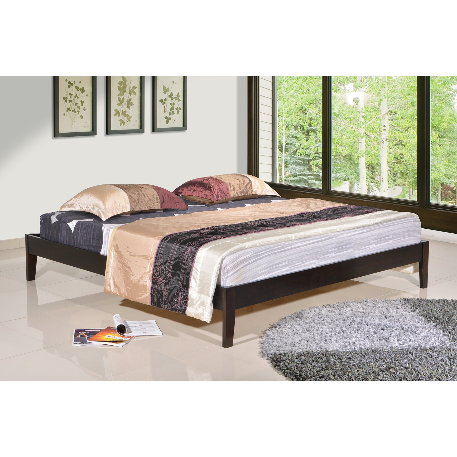 superb wooden platform bed frames