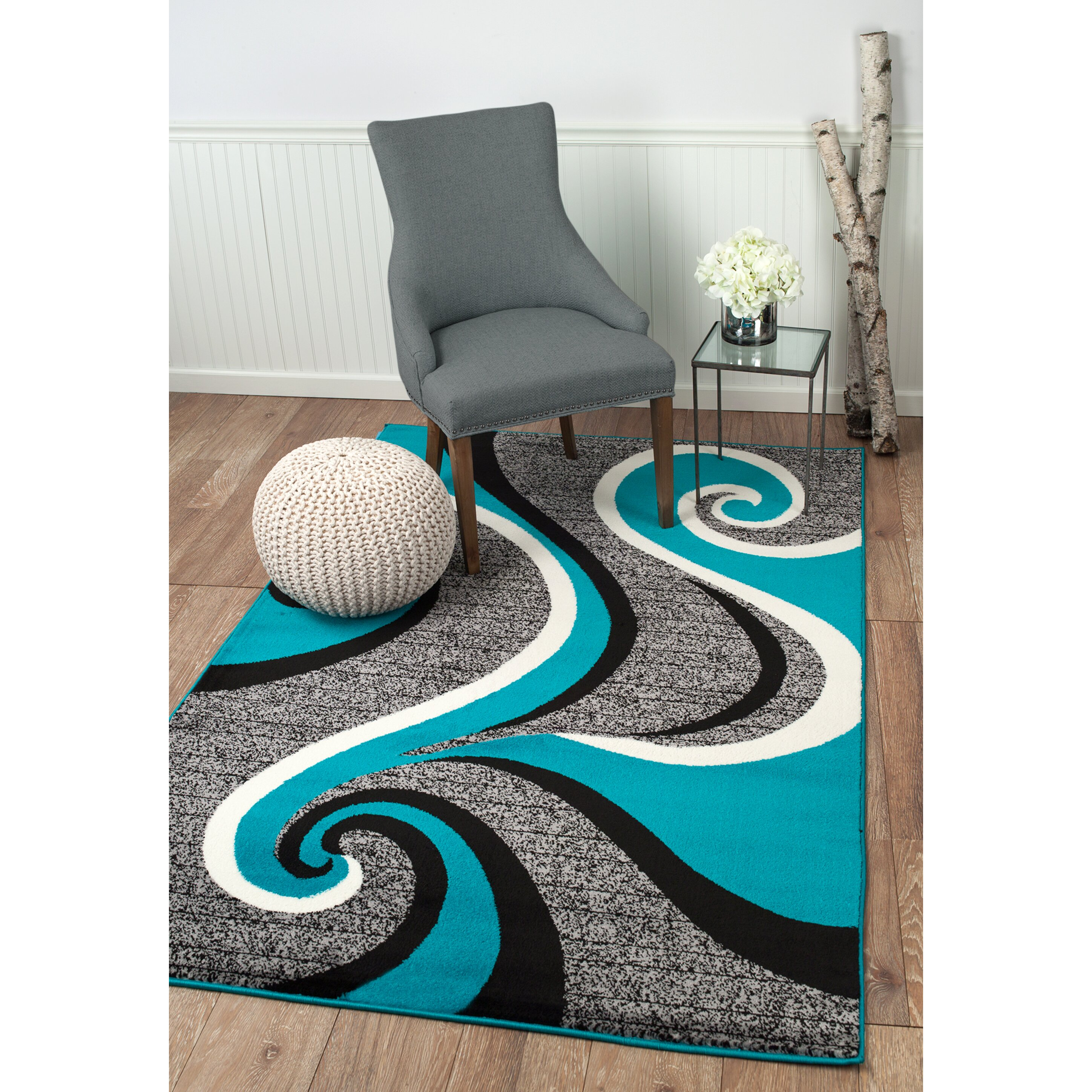 Rug And Decor Inc Summit Turquoise Area Rug Reviews