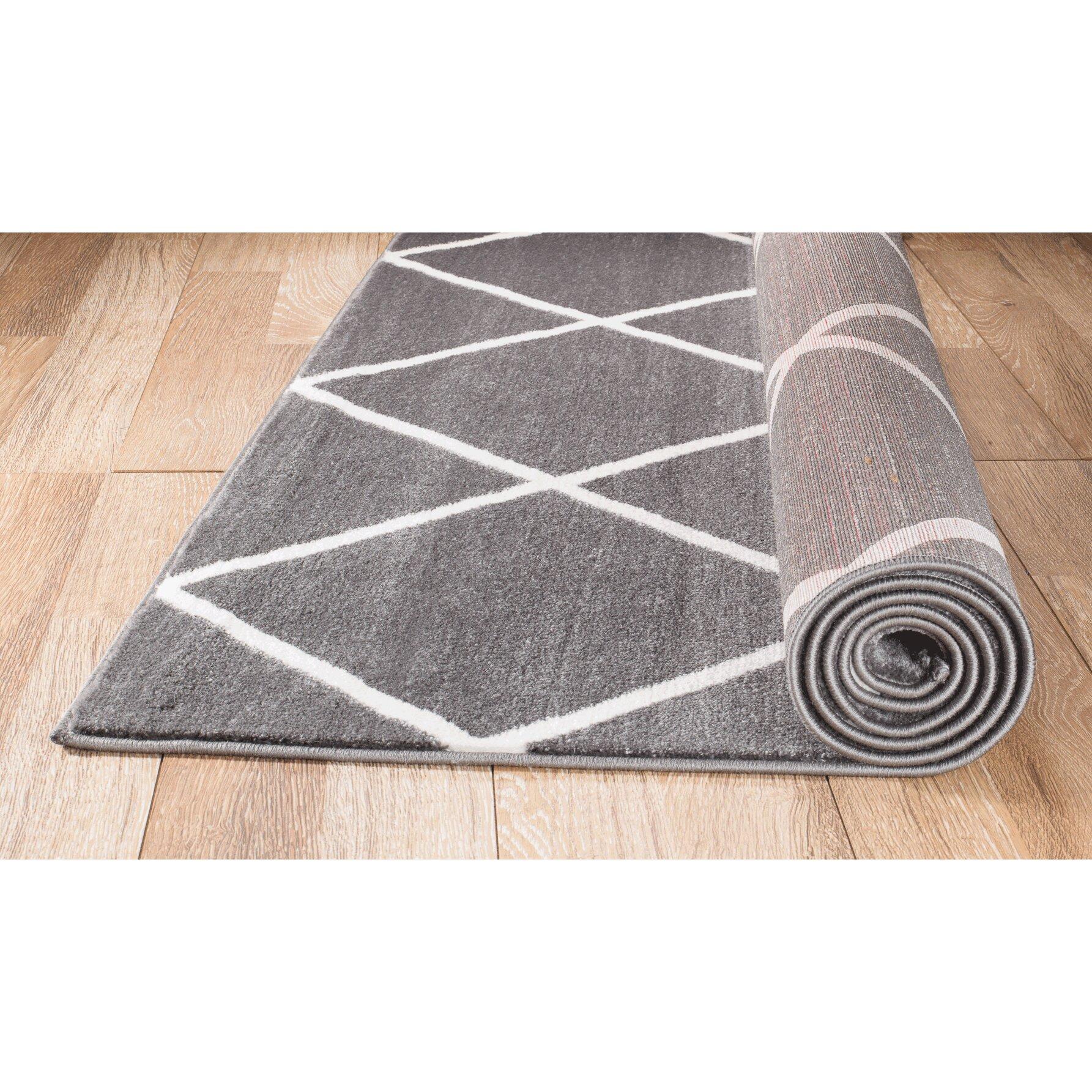rug and decor inc venice gray white area rug reviews wayfair. Black Bedroom Furniture Sets. Home Design Ideas