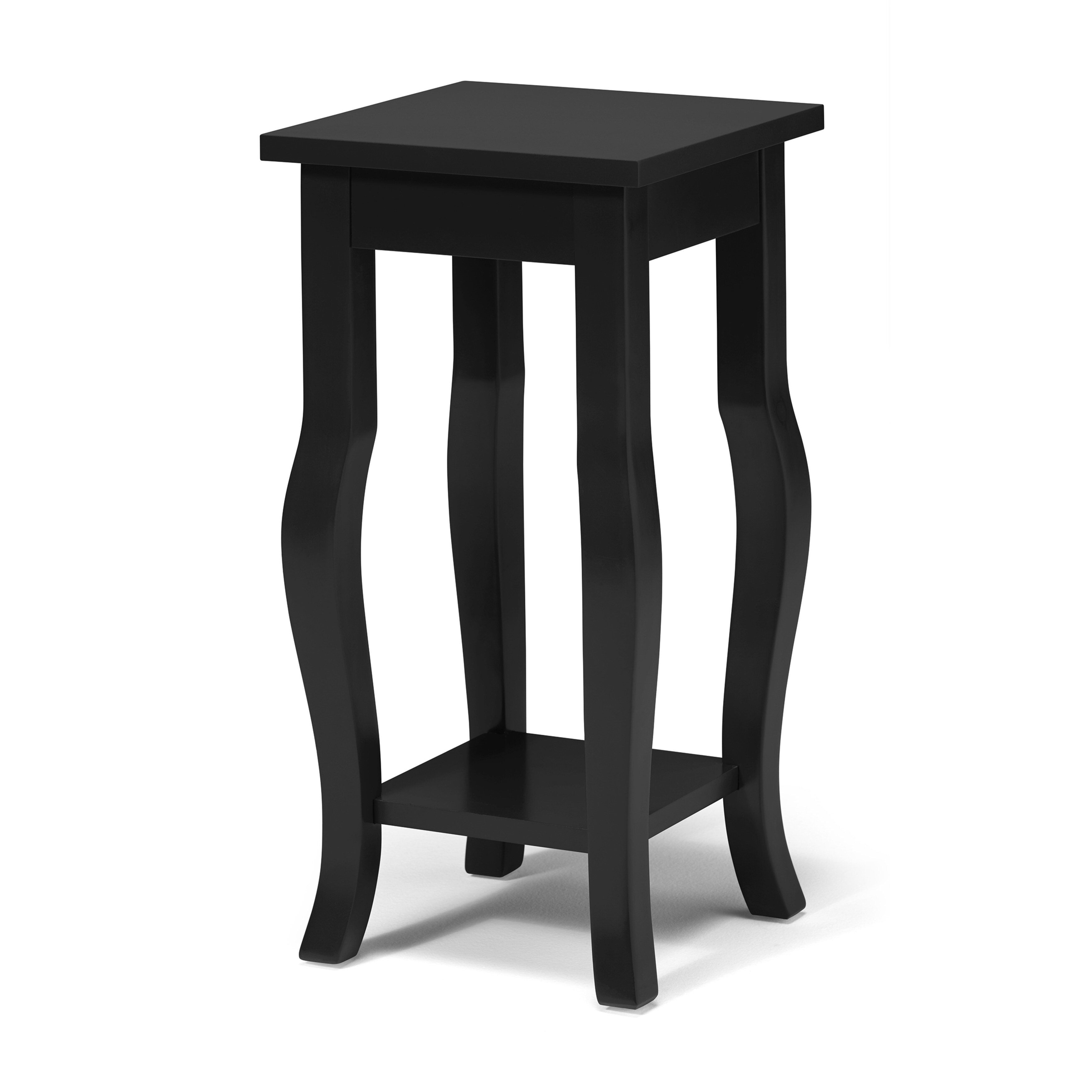 Kate and laurel lillian wood pedestal end table reviews for 12 inch accent table