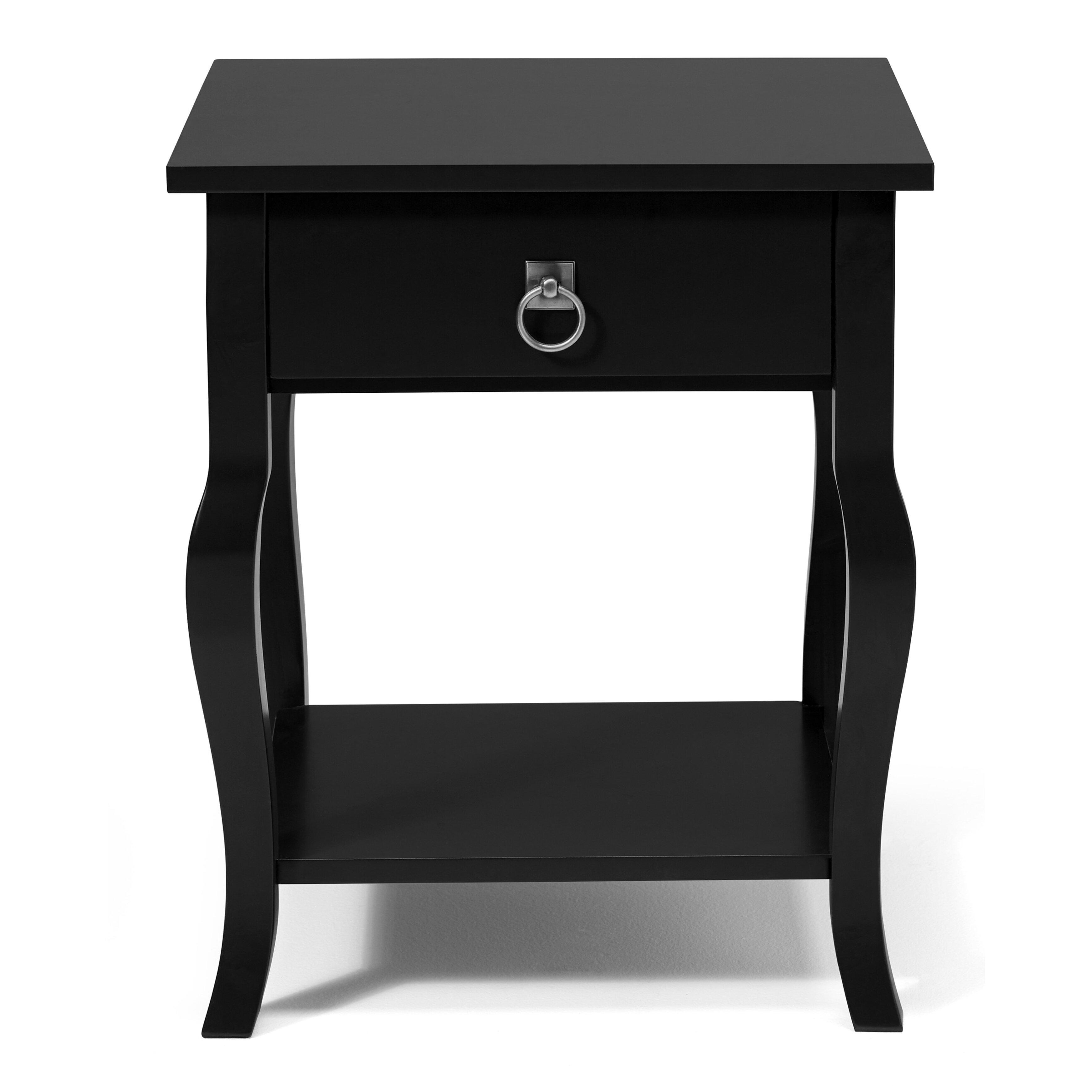 kate and laurel lillian end table reviews wayfair. Black Bedroom Furniture Sets. Home Design Ideas
