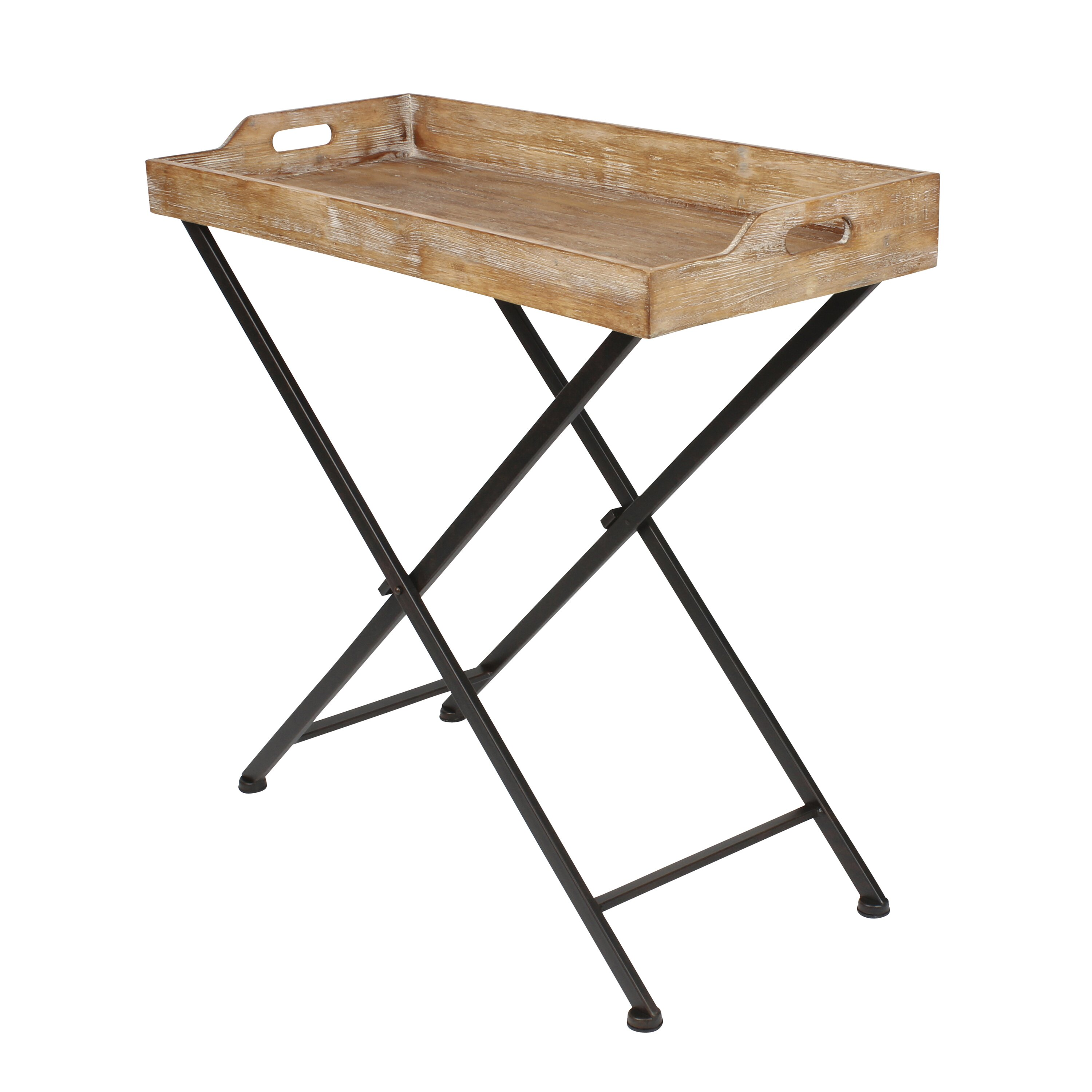 Tray Top End Table Kate And Laurel Marmora Metal