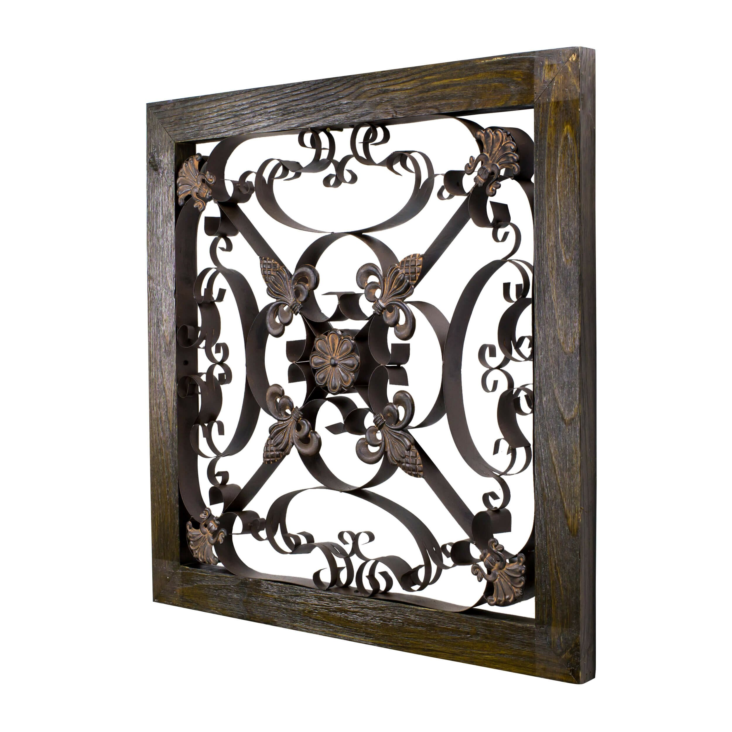 Bayaccents Square Framed Wrought Iron Wall Art Wayfair