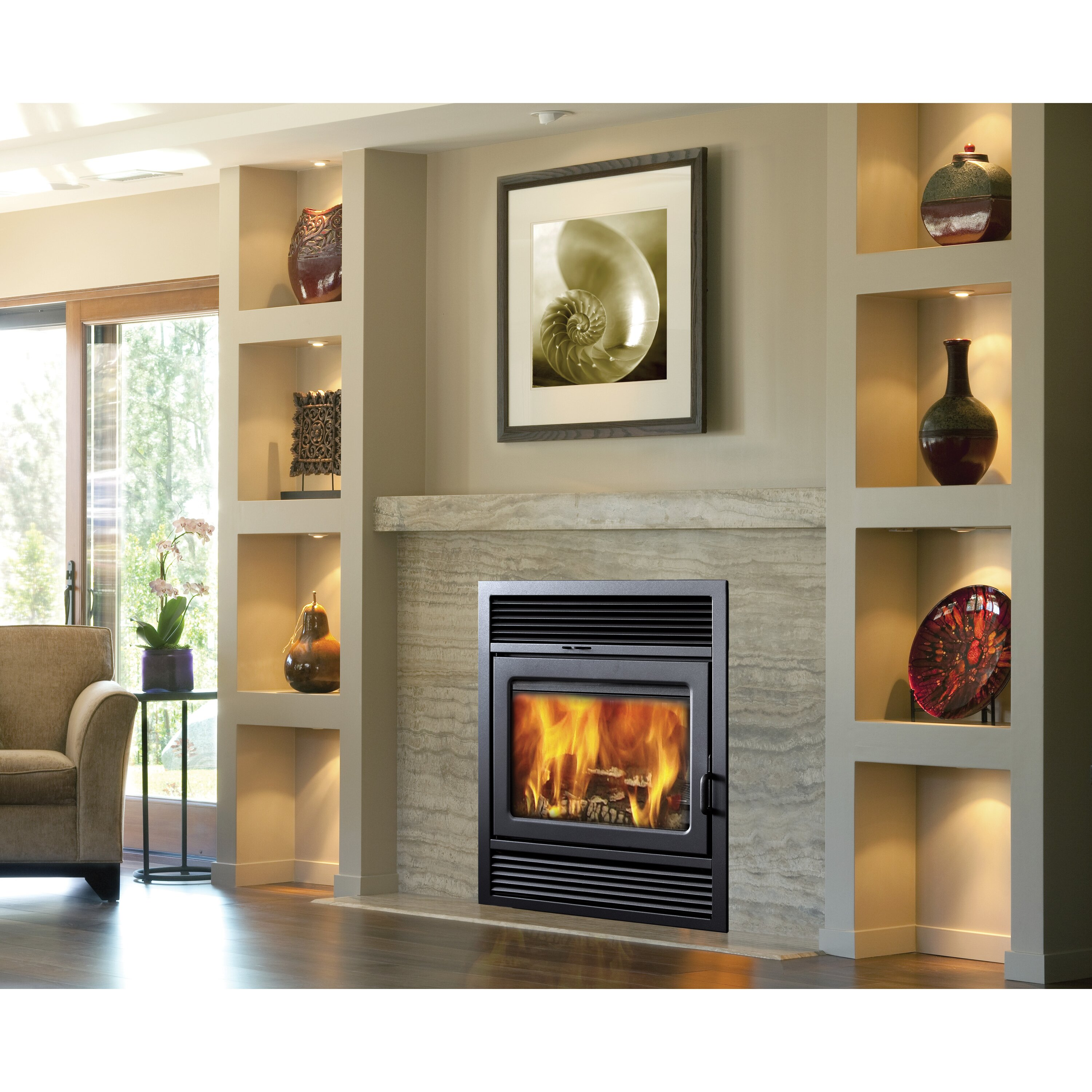 Supreme Fireplaces Inc Galaxy Zero Clearance Clean Fireplace Wayfair