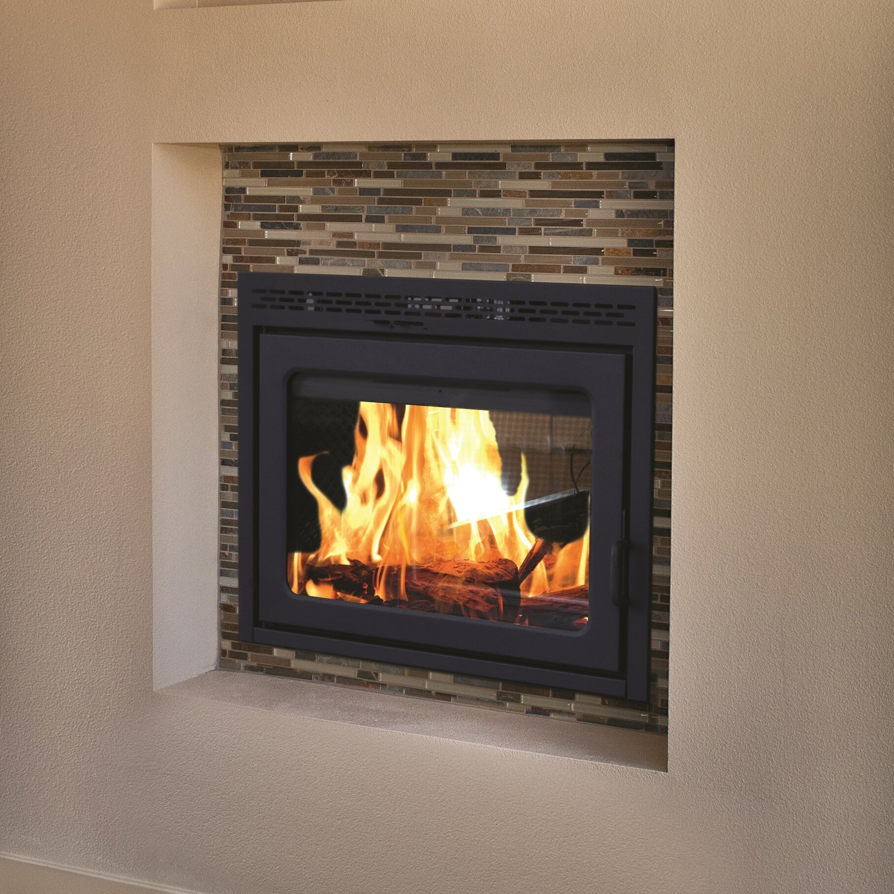 Supreme fireplaces inc duet see through fireplace wayfair for See through fireplaces