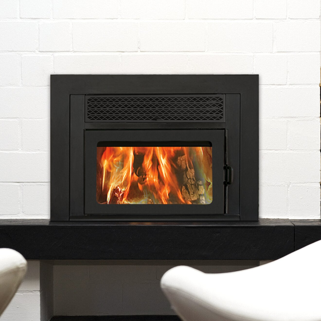 Supreme Fireplaces Inc Volcano Plus Wall Mount Wood Burning Fireplace Insert Reviews Wayfair