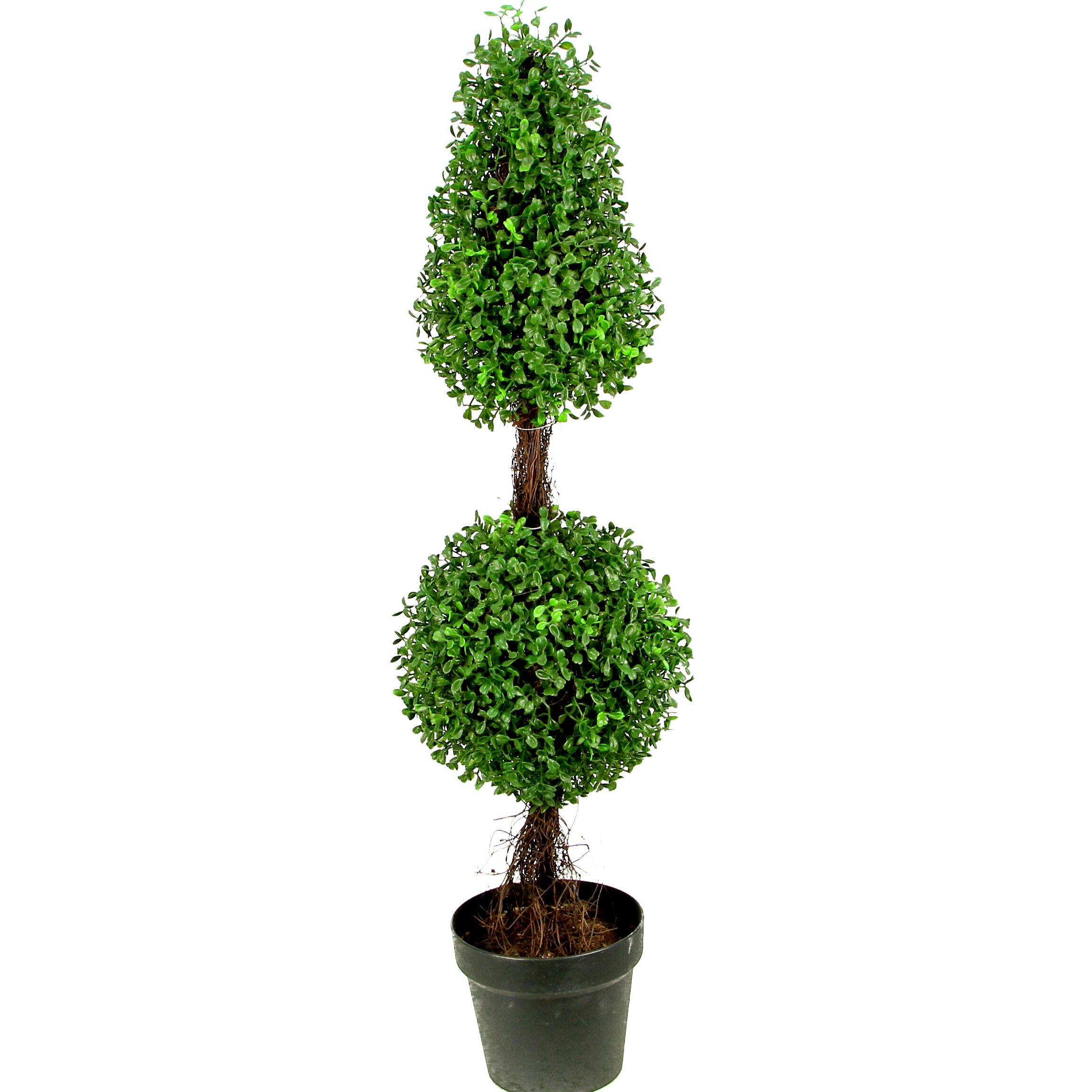 Admiredbynature Artificial Double Ball Shaped Boxwood