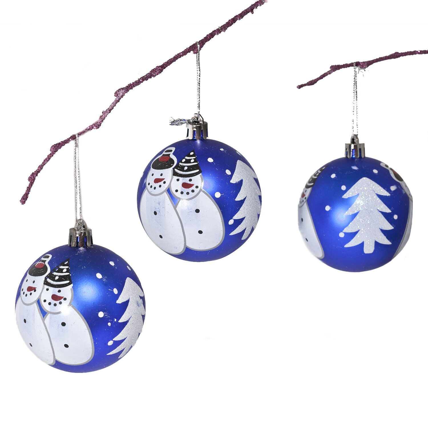Perfectholiday shatterproof handpainted snowman for Holiday christmas ornaments