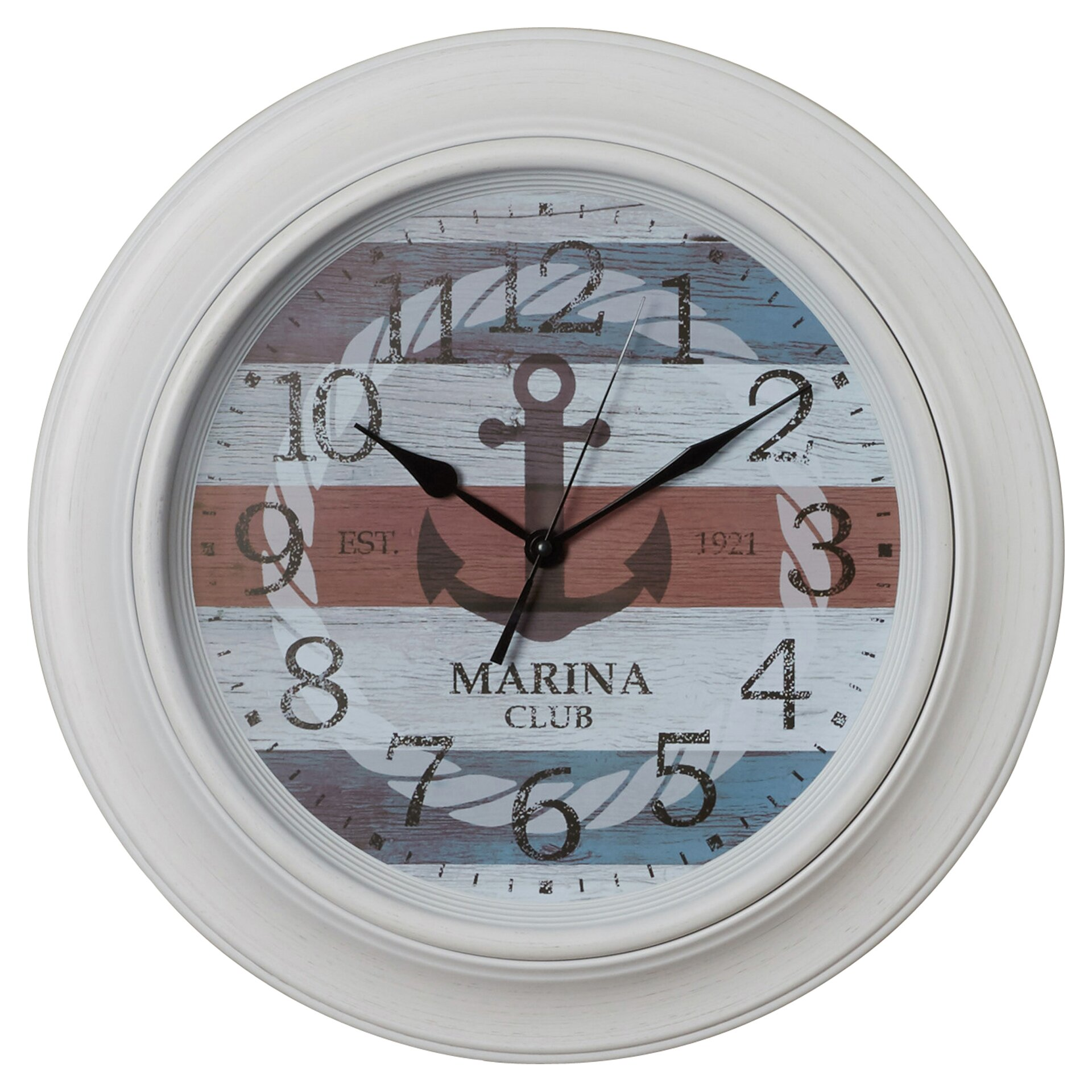 Breakwater bay 18 nautical anchor wall clock reviews for Seashell wall clock