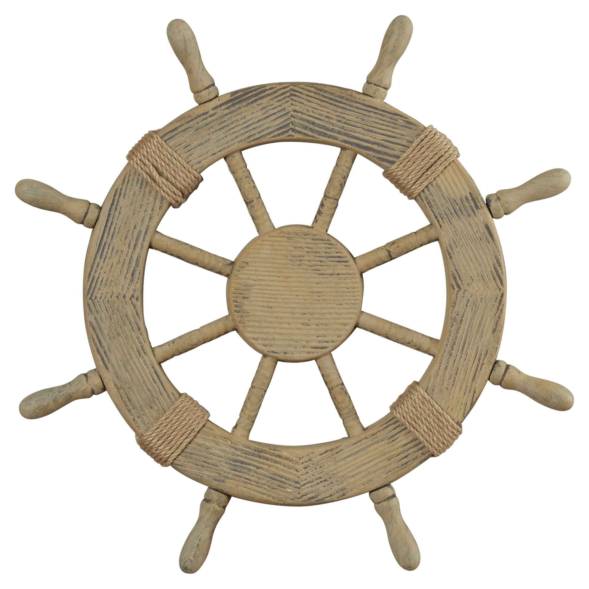 Nautical Wheel Decor: Breakwater Bay Nautical Ship Wheel Wall Décor & Reviews