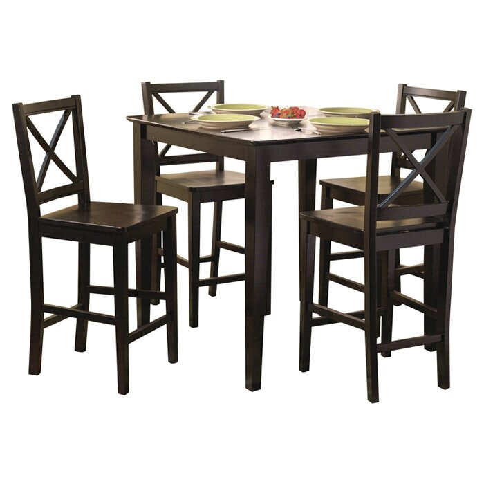 Counter Height Dining Sets 5 Piece : ... Bay Worthington 5 Piece Counter Height Dining Set & Reviews Wayfair