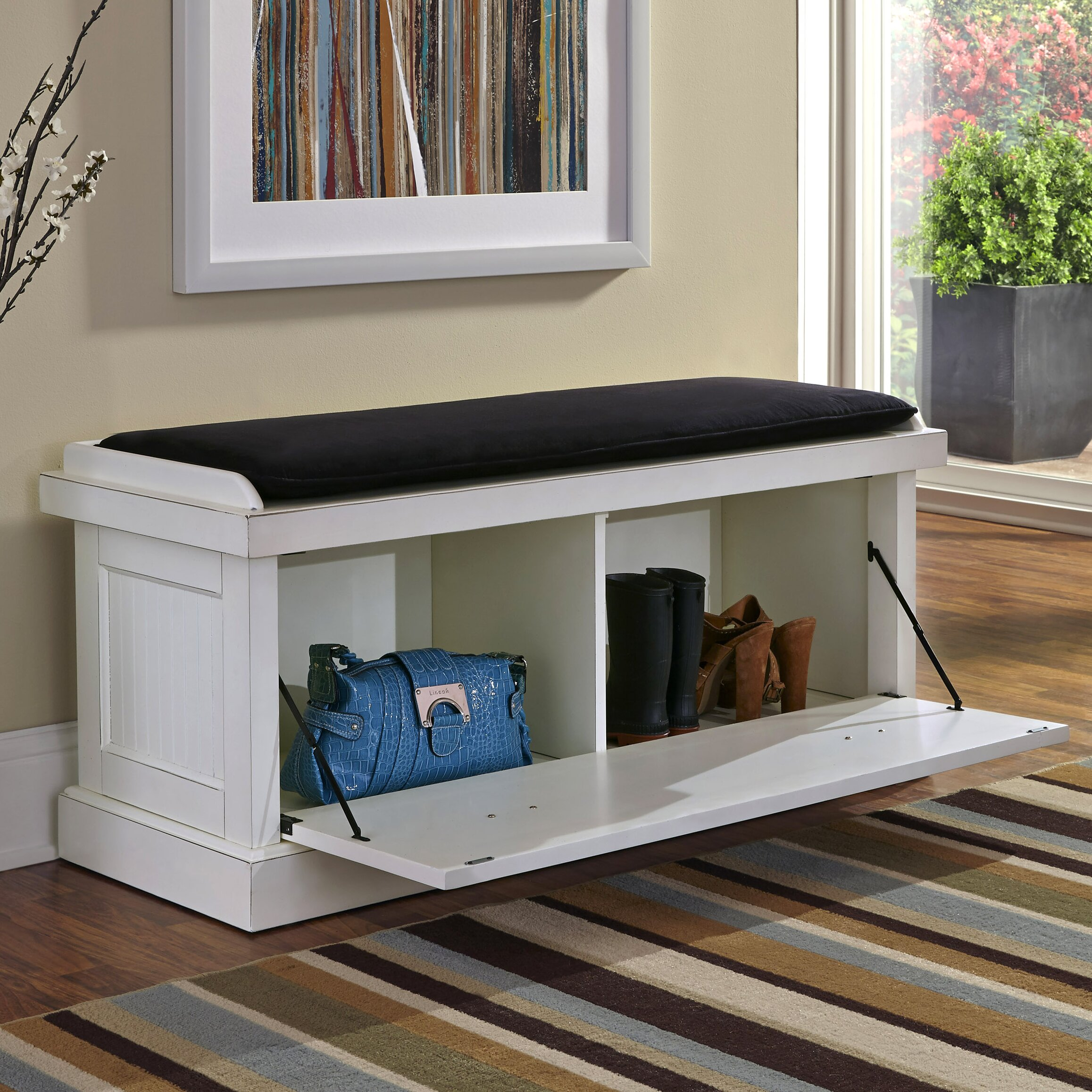 Foyer Mudroom Reviews : Breakwater bay gouldsboro upholstered entryway bench