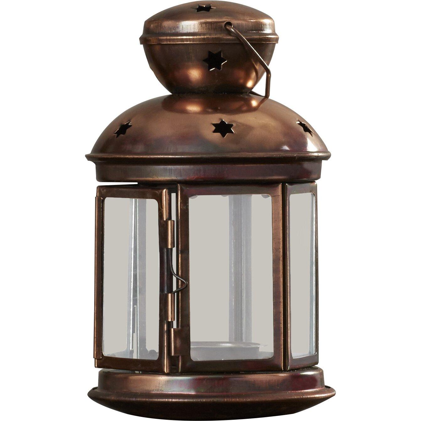 Breakwater bay metal candle lantern reviews wayfair for Wire candle lantern