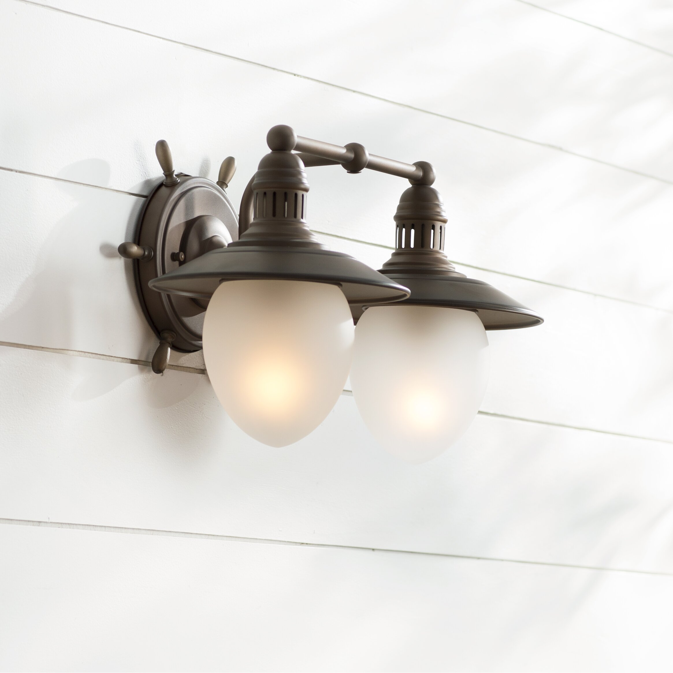 Vaxcel Nautical 2 Light Outdoor Barn Light & Reviews