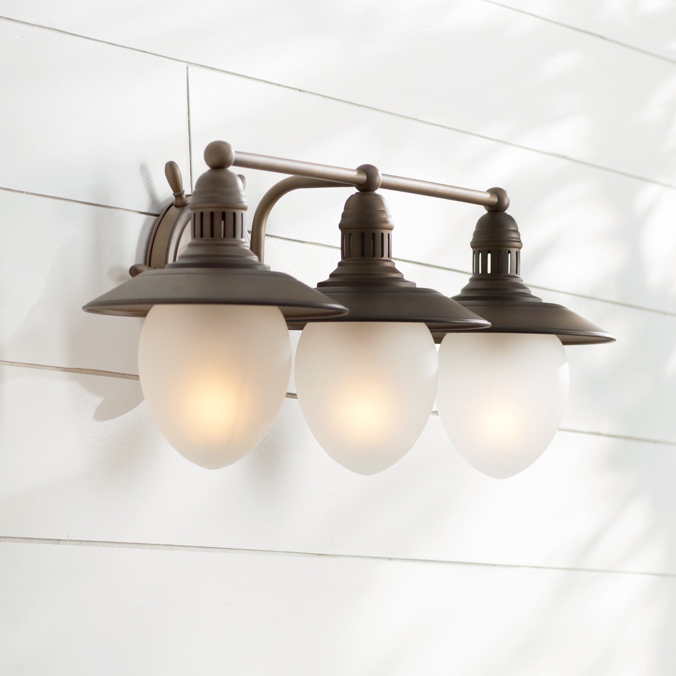 Nautical Bathroom Vanity Lights: Vaxcel Nautical 3 Light Vanity Light & Reviews
