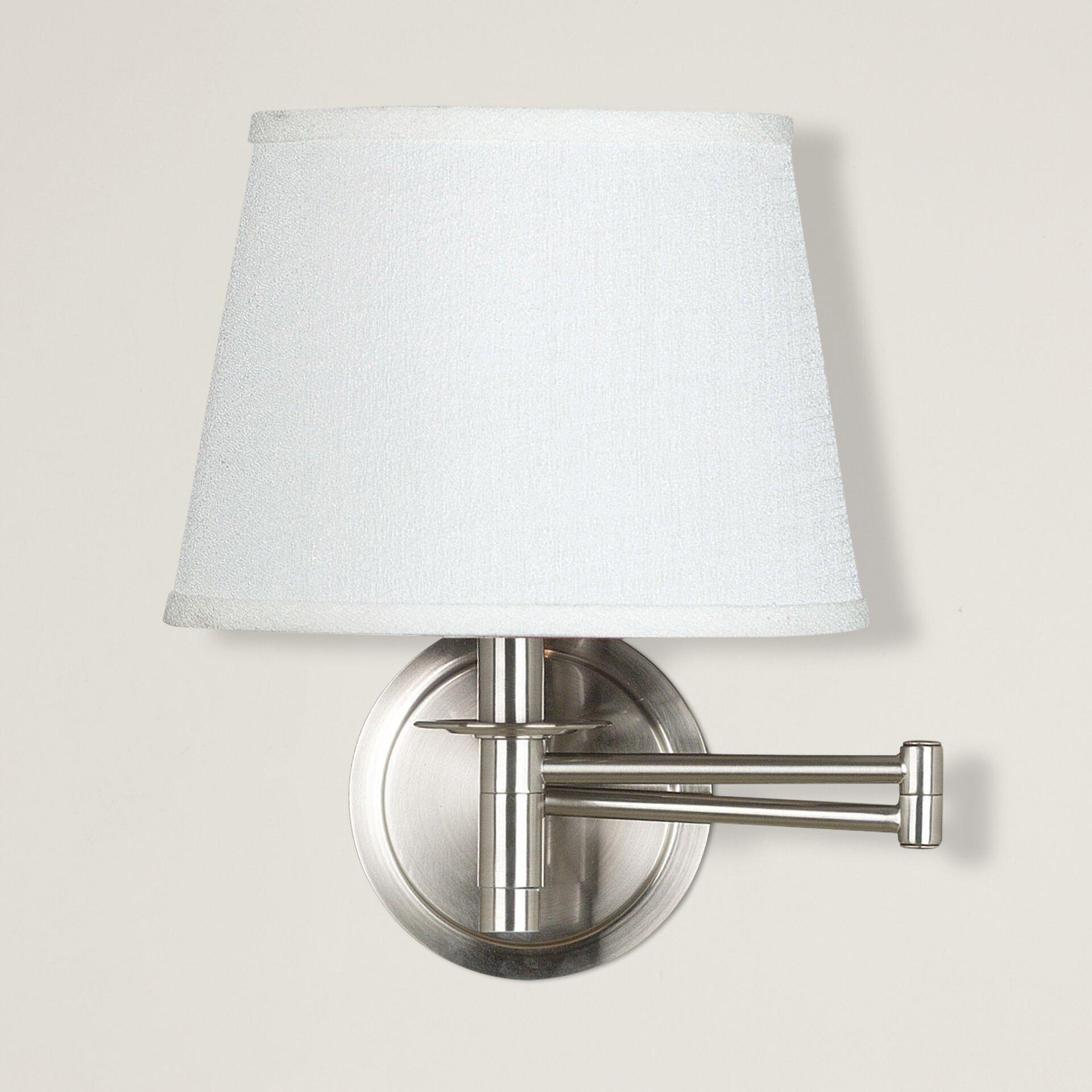 Swing Arm Wall Light Kitchen : Breakwater Bay Eberton 1 Light Swing Arm Wall Lamp & Reviews Wayfair