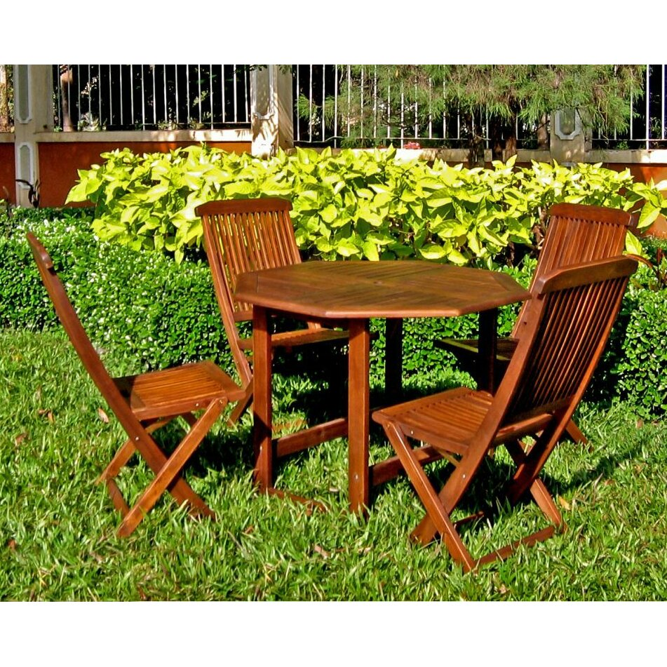 Breakwater Bay Sandy Point 5 Piece Dining Set Reviews