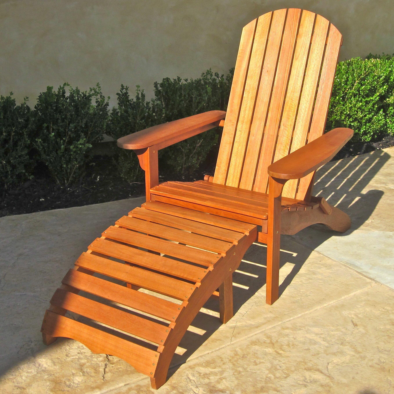 Breakwater Bay Sabbattus Adirondack Chair with Footrest ...