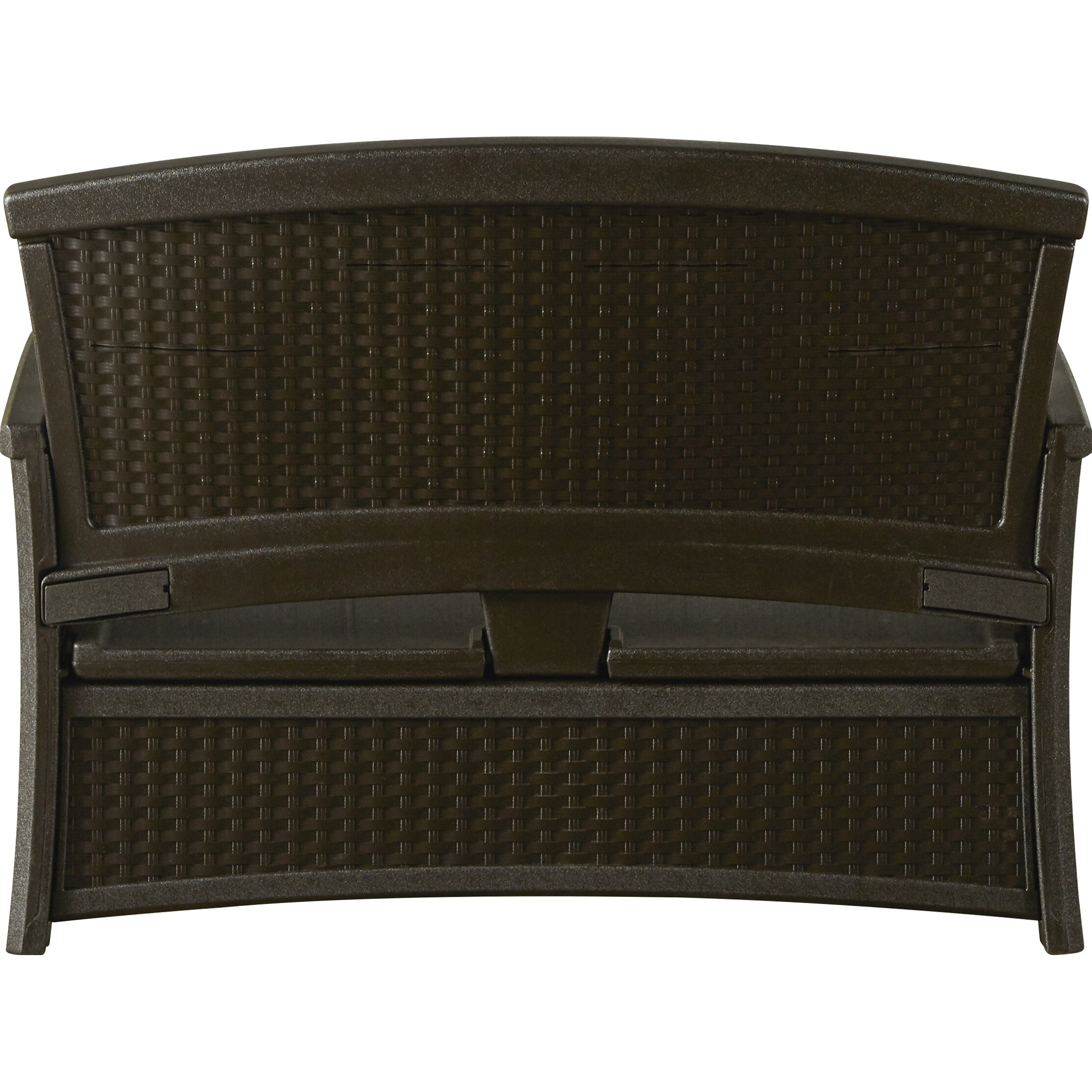 Breakwater Bay Salisbury Wicker Storage Bench Reviews Wayfair