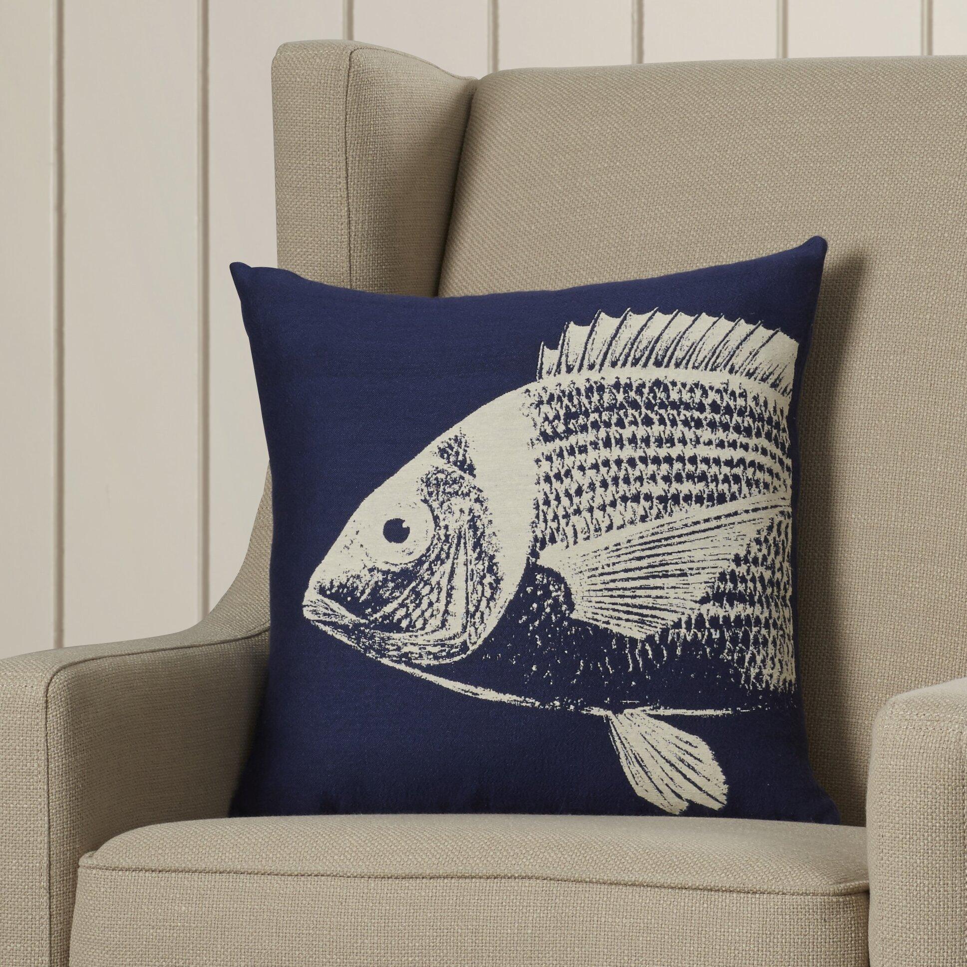 Breakwater bay pembrey sea fish throw pillow reviews for Fish throw pillows
