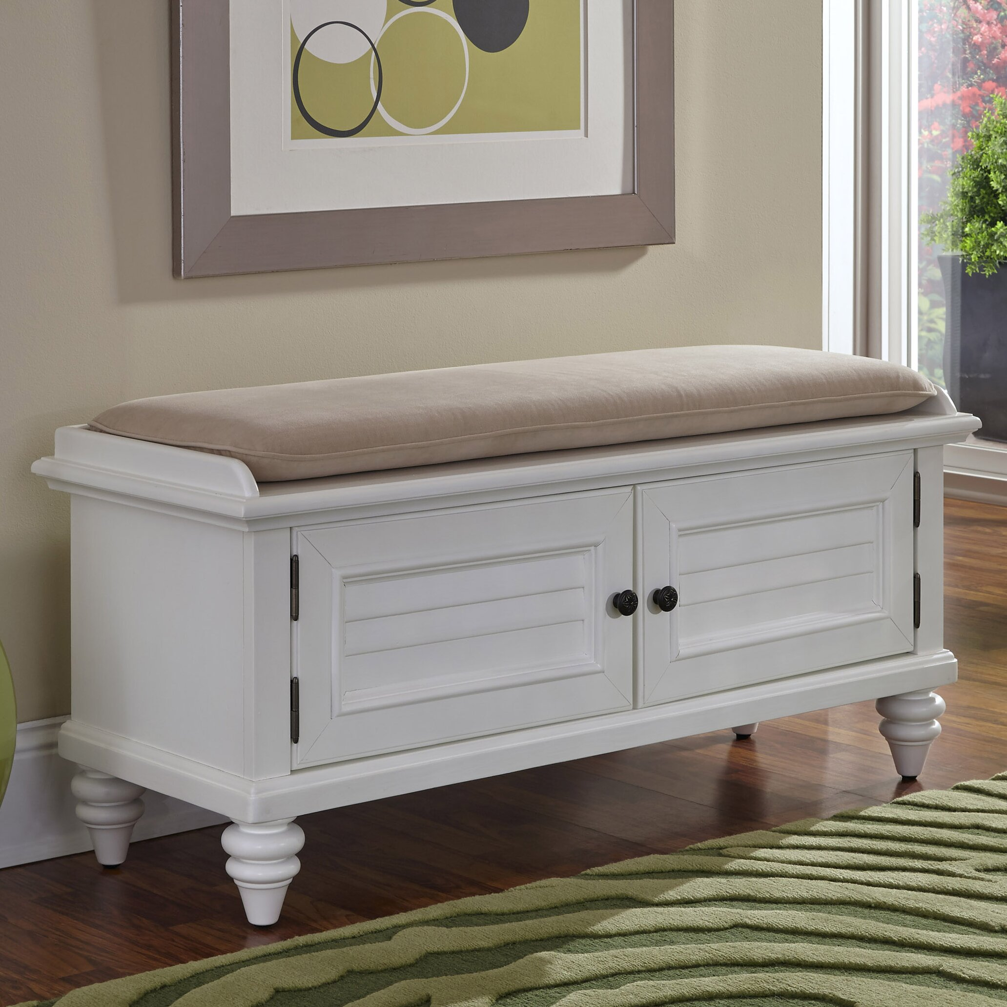 Breakwater Bay Kenduskeag Upholstered Storage Entryway Bench Reviews Wayfair