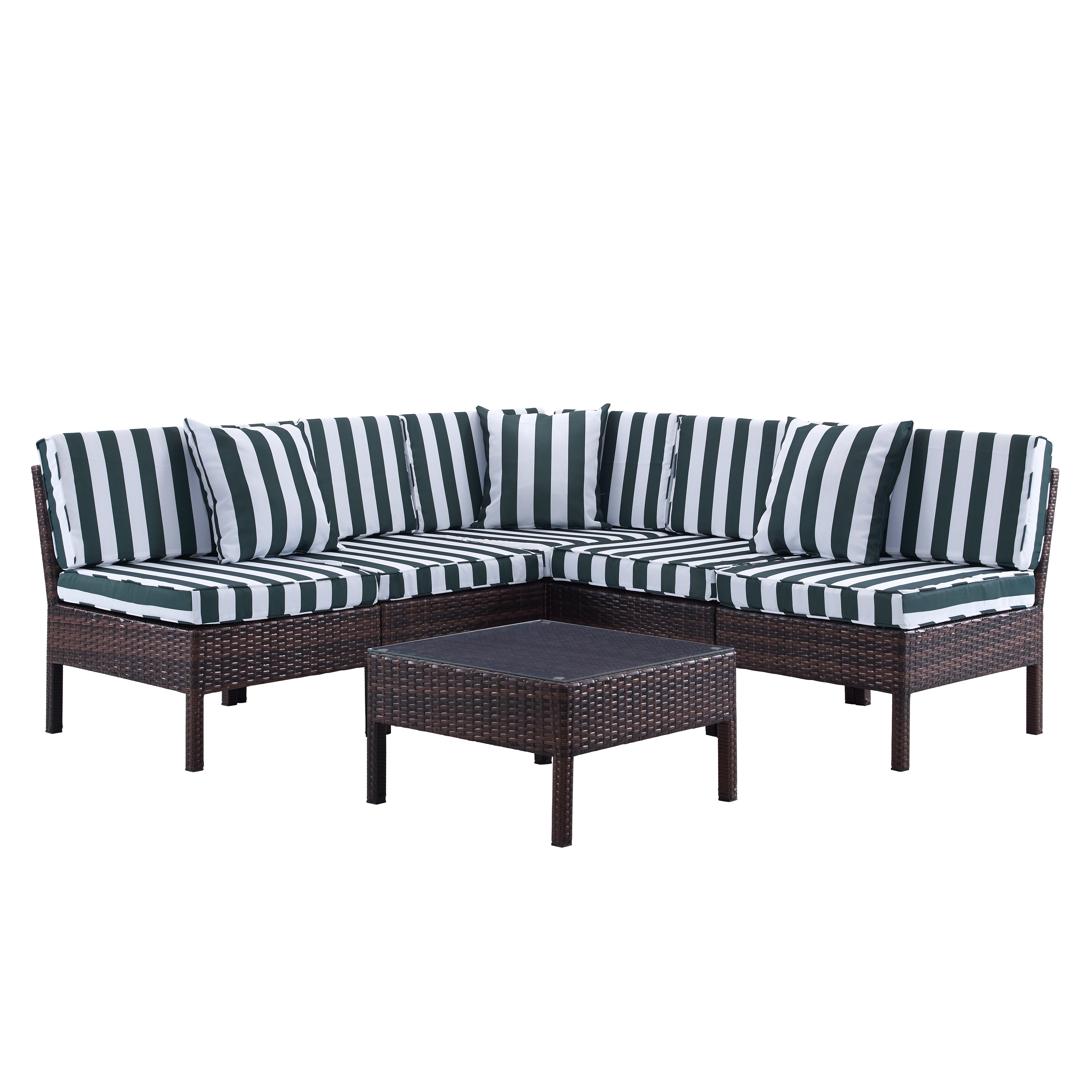 Breakwater Bay Monticello 6 Piece Sectional Seating Group  : Naples6PieceDeepSeatingGroupwithCushion from www.wayfair.com size 5833 x 5833 jpeg 2486kB