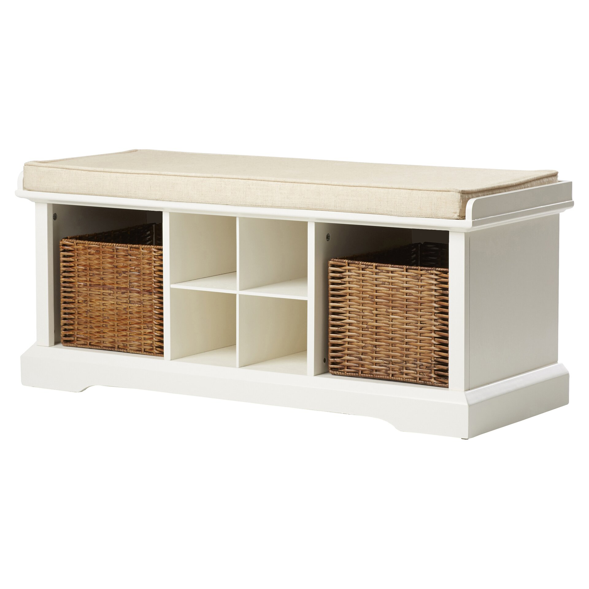 Breakwater bay selbyville storage entryway bench reviews for Entryway mudroom bench
