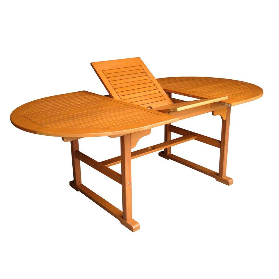 Breakwater Bay Sabbattus Outdoor Oval Extendable Table