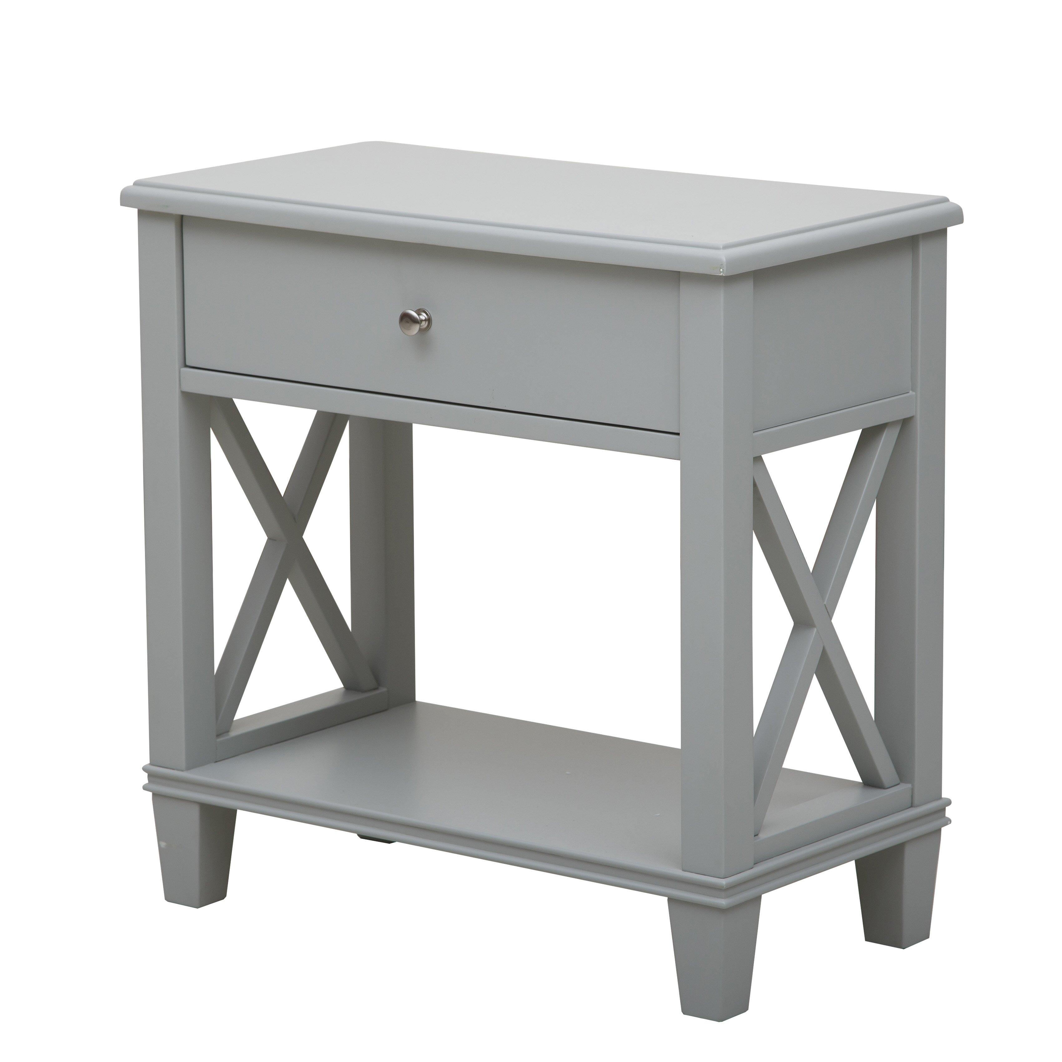 breakwater bay 1 drawer end table reviews wayfair. Black Bedroom Furniture Sets. Home Design Ideas