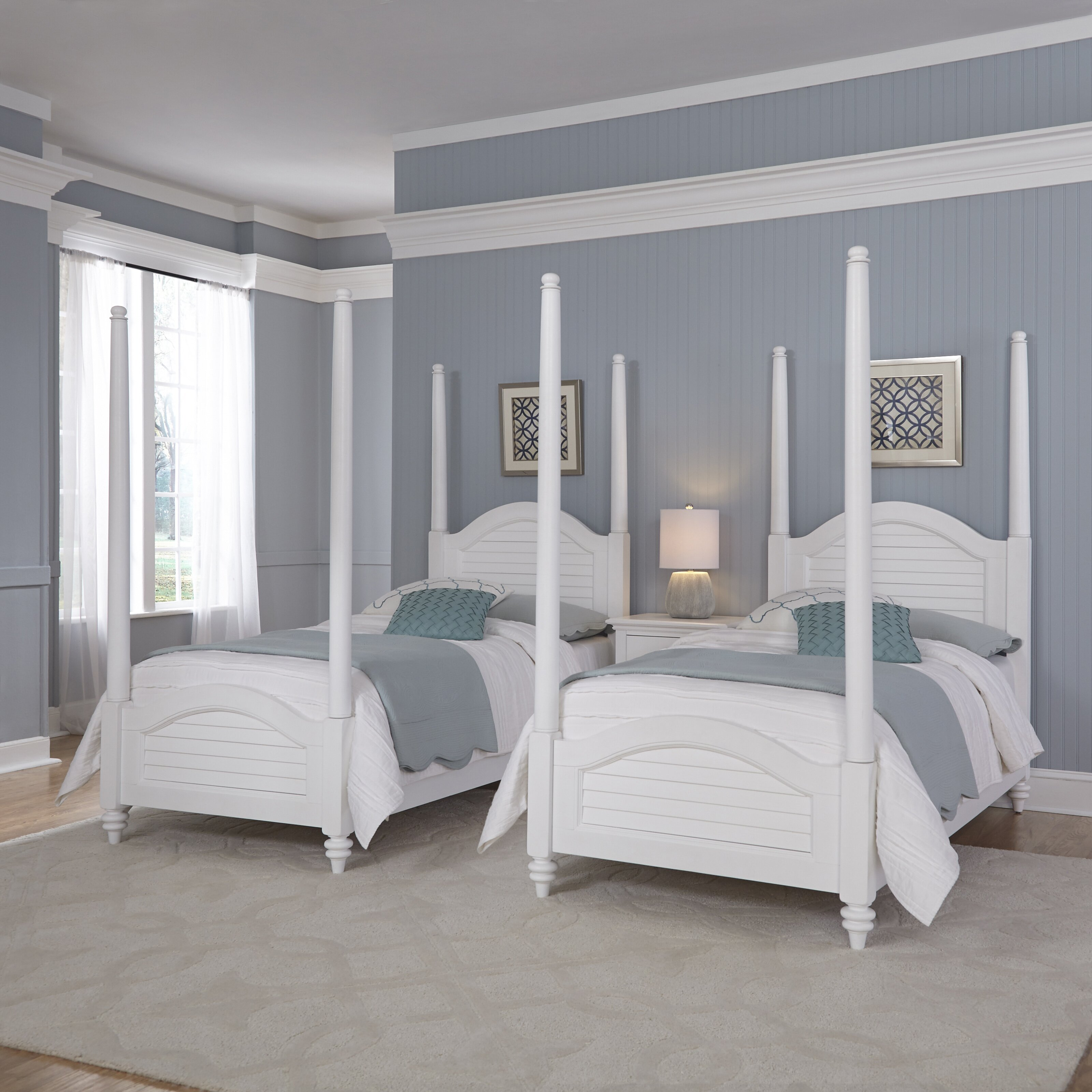 breakwater bay kenduskeag twin four poster bed wayfair. Black Bedroom Furniture Sets. Home Design Ideas